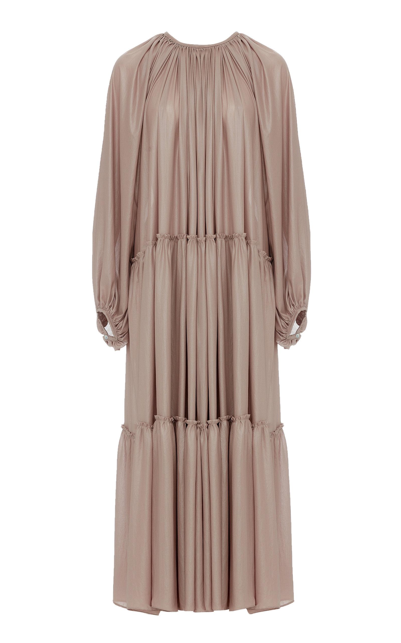 Buy Studio Cut Pleated Crepe De Chine Dress online, shop Studio Cut at the best price