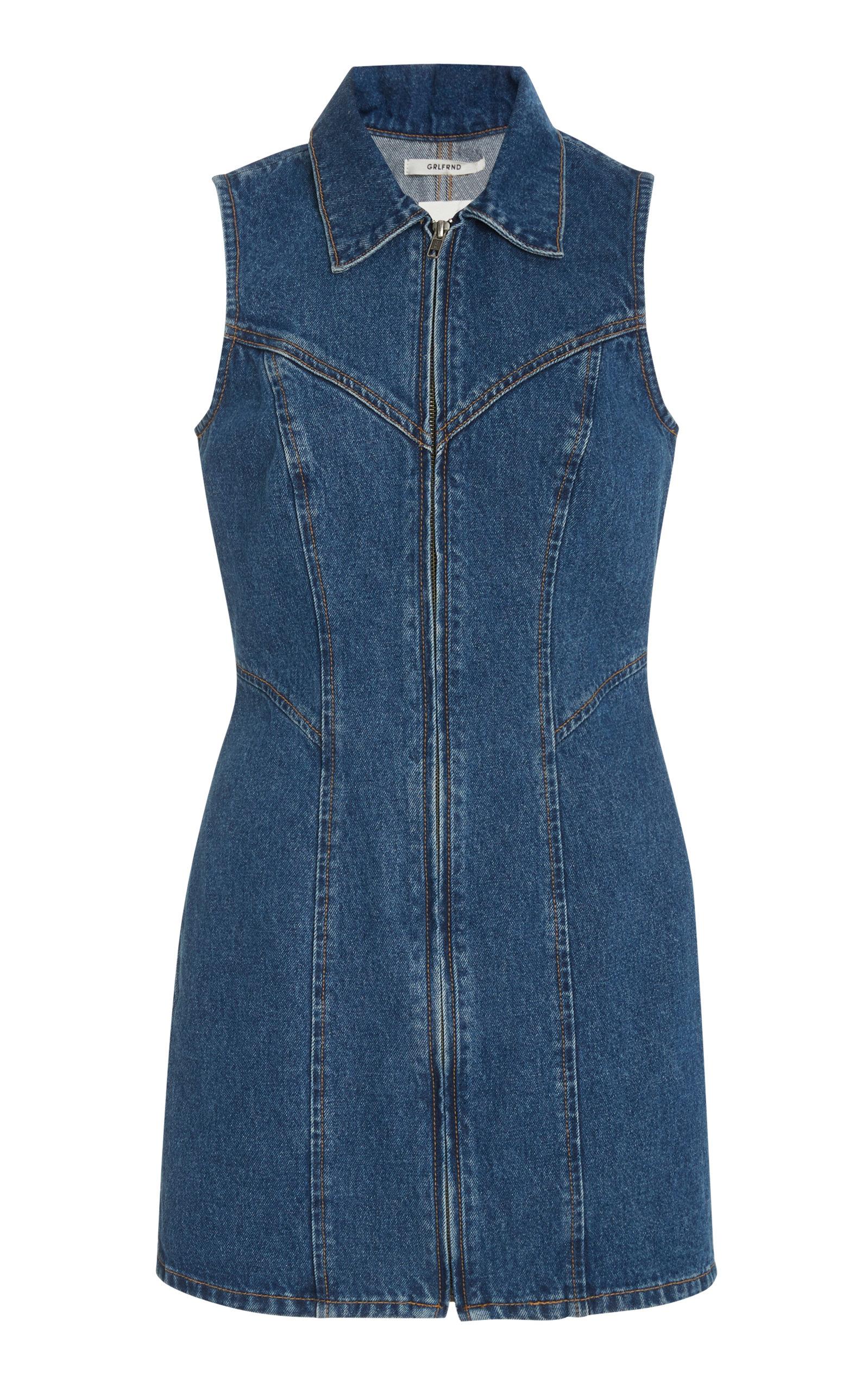 Buy GRLFRND Denim Colette Denim Mini Dress online, shop GRLFRND Denim at the best price