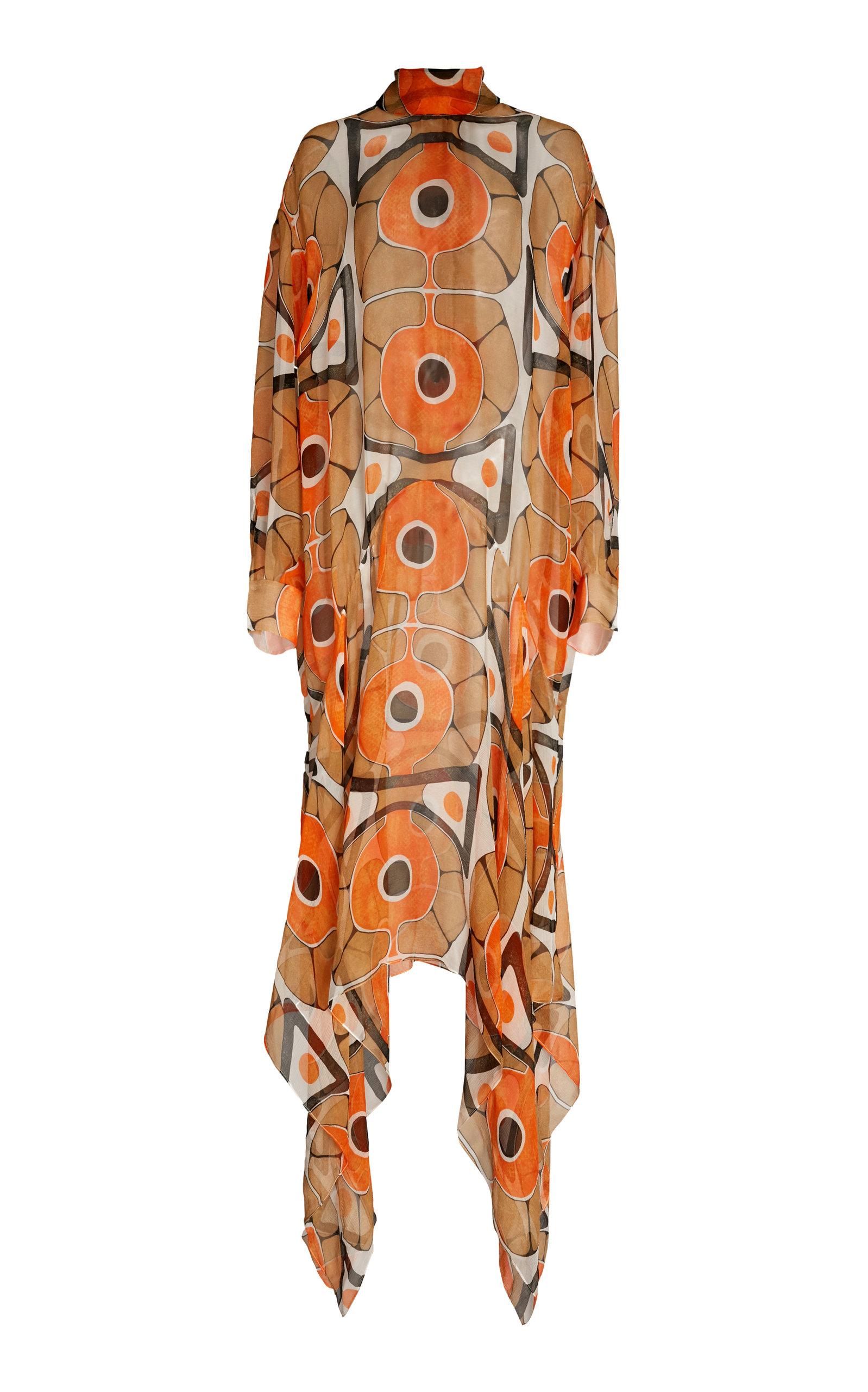 Buy Christopher Kane Molecule Crinkle Georgette Dress online, shop Christopher Kane at the best price