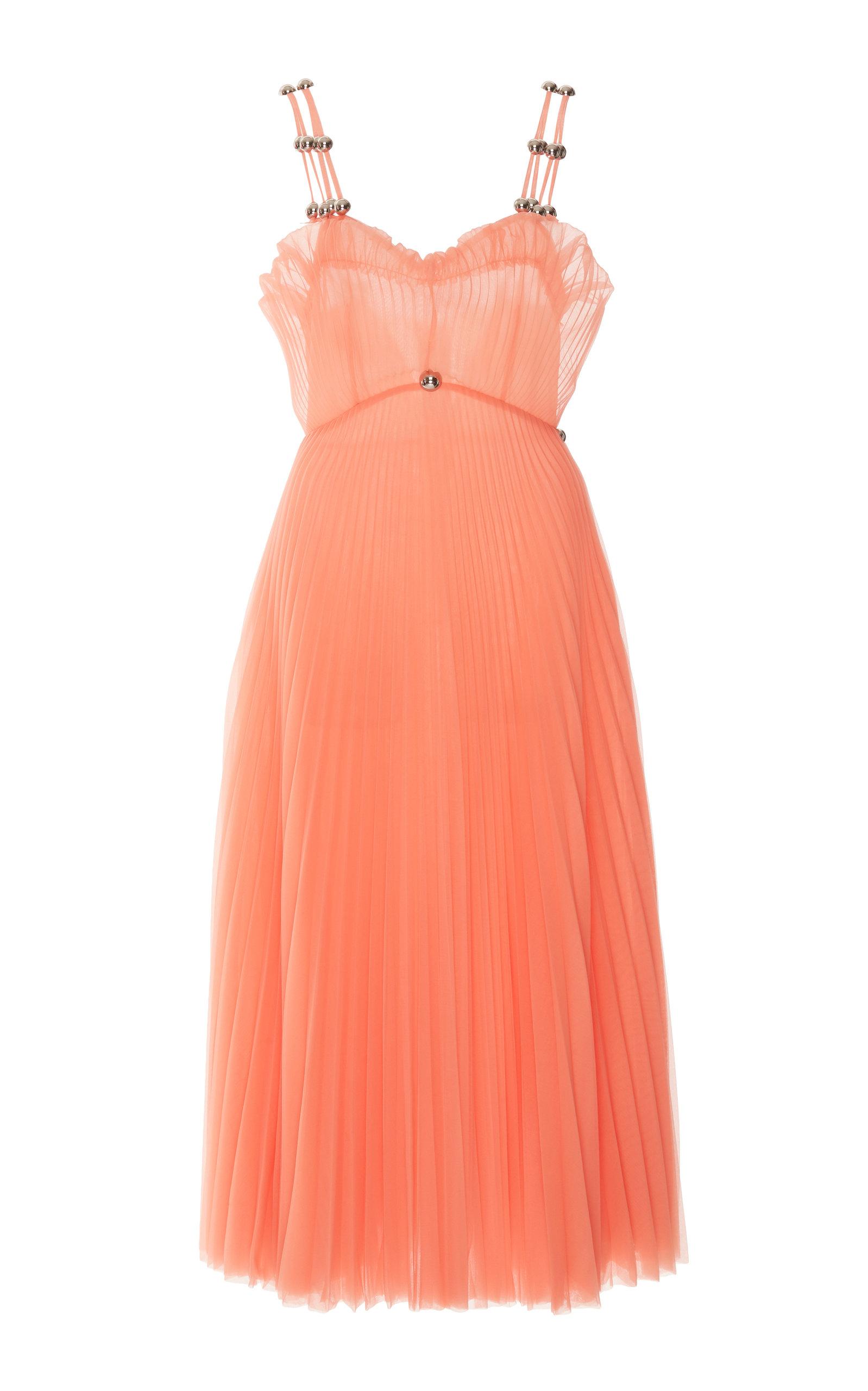 Buy Christopher Kane Plissé Mesh Dress online, shop Christopher Kane at the best price