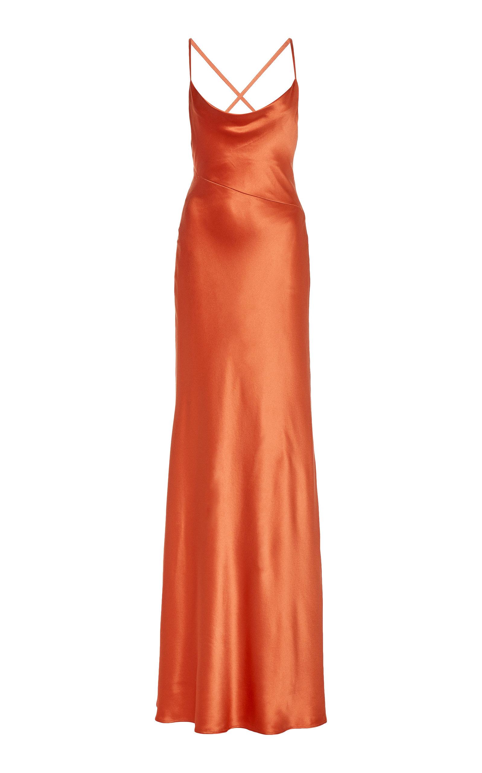 Buy Galvan Serena Silk-Satin Gown online, shop Galvan at the best price
