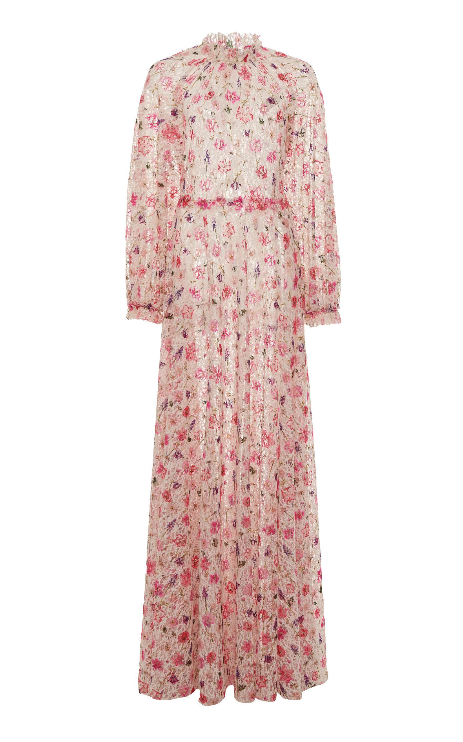 Buy Luisa Beccaria Floral-Print Georgette Maxi Dress online, shop Luisa Beccaria at the best price