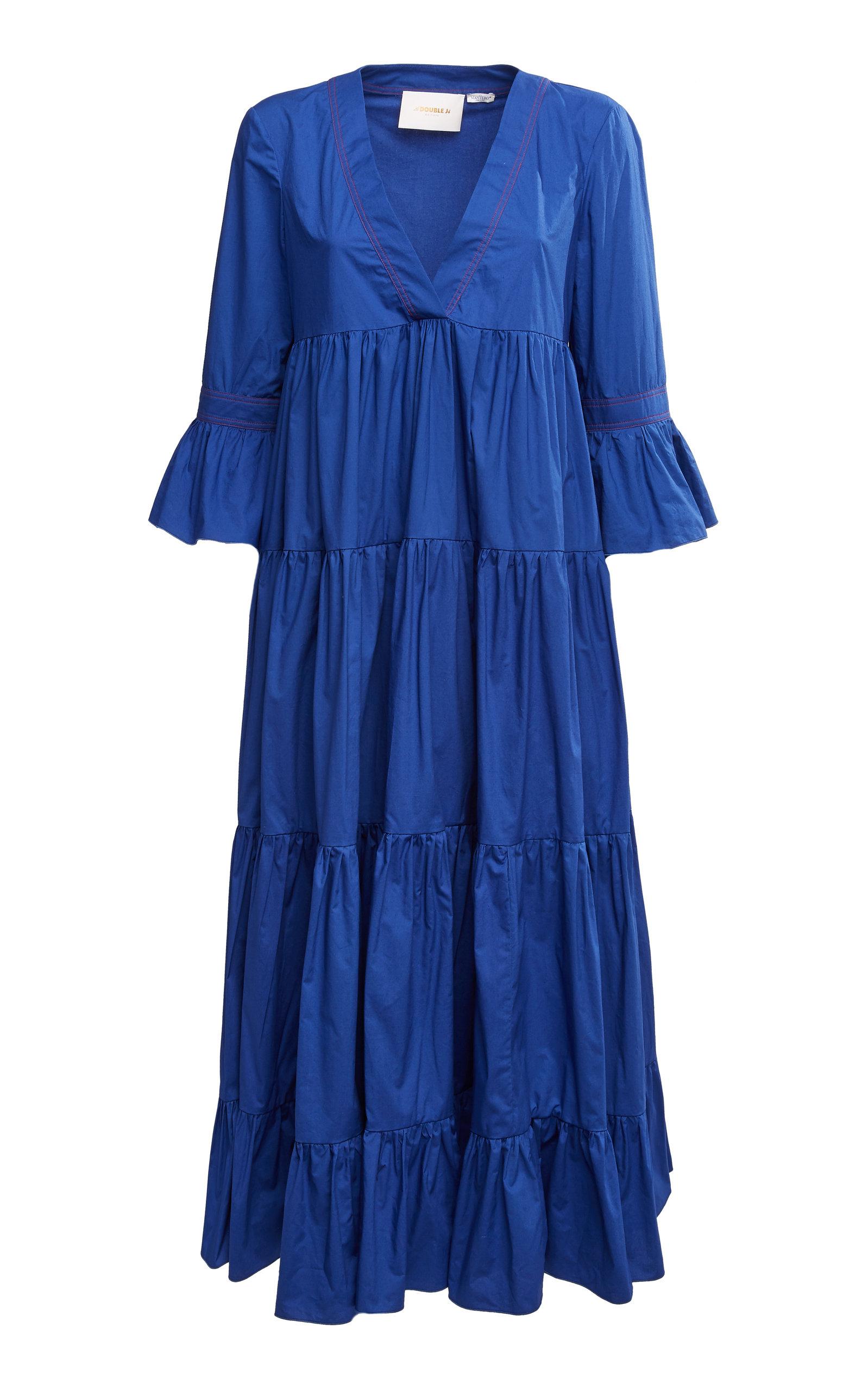 Buy La DoubleJ Jennifer Jane Cotton-Poplin Midi Dress online, shop La DoubleJ at the best price