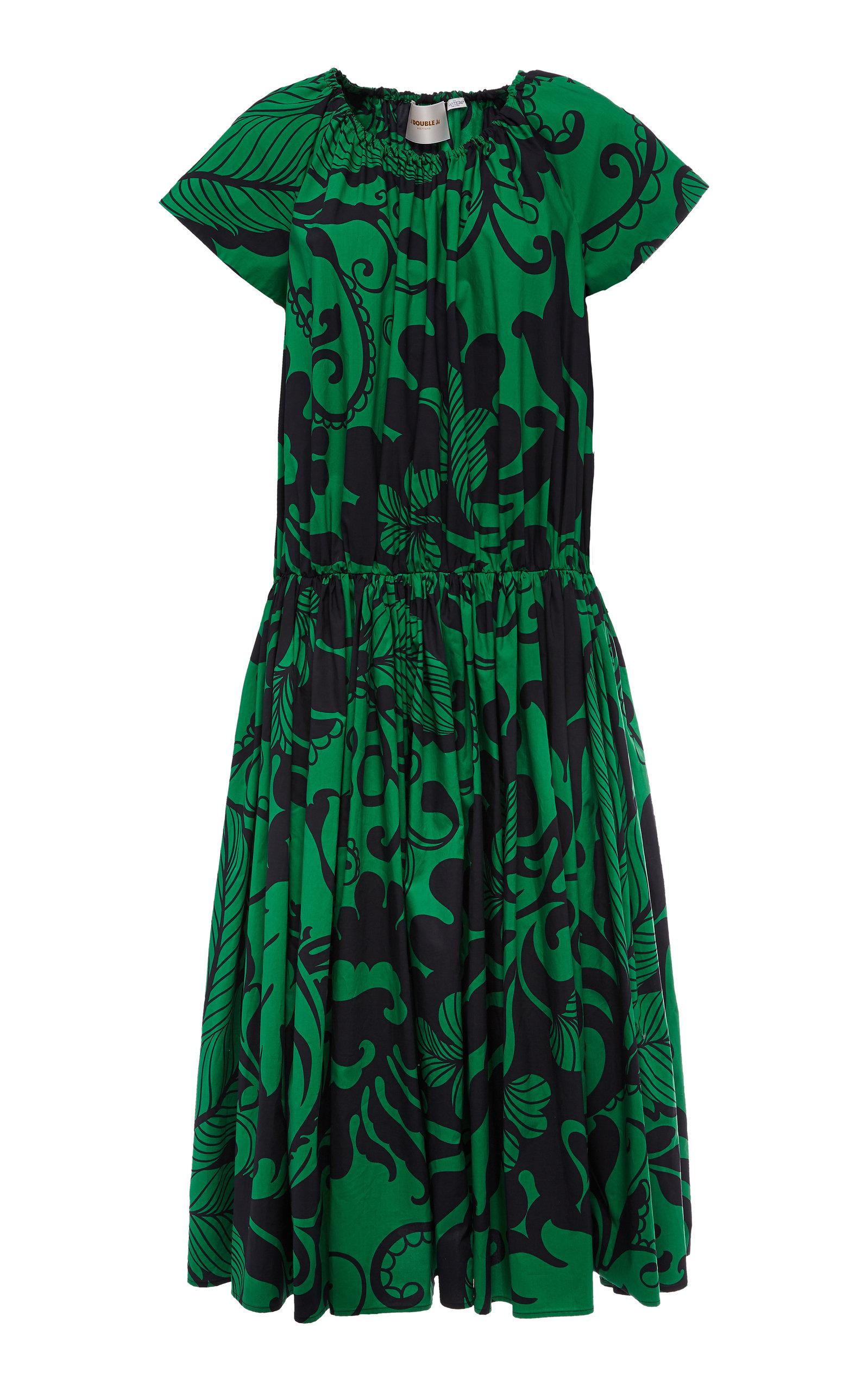 Buy La DoubleJ Positano Printed Cotton Midi Dress online, shop La DoubleJ at the best price