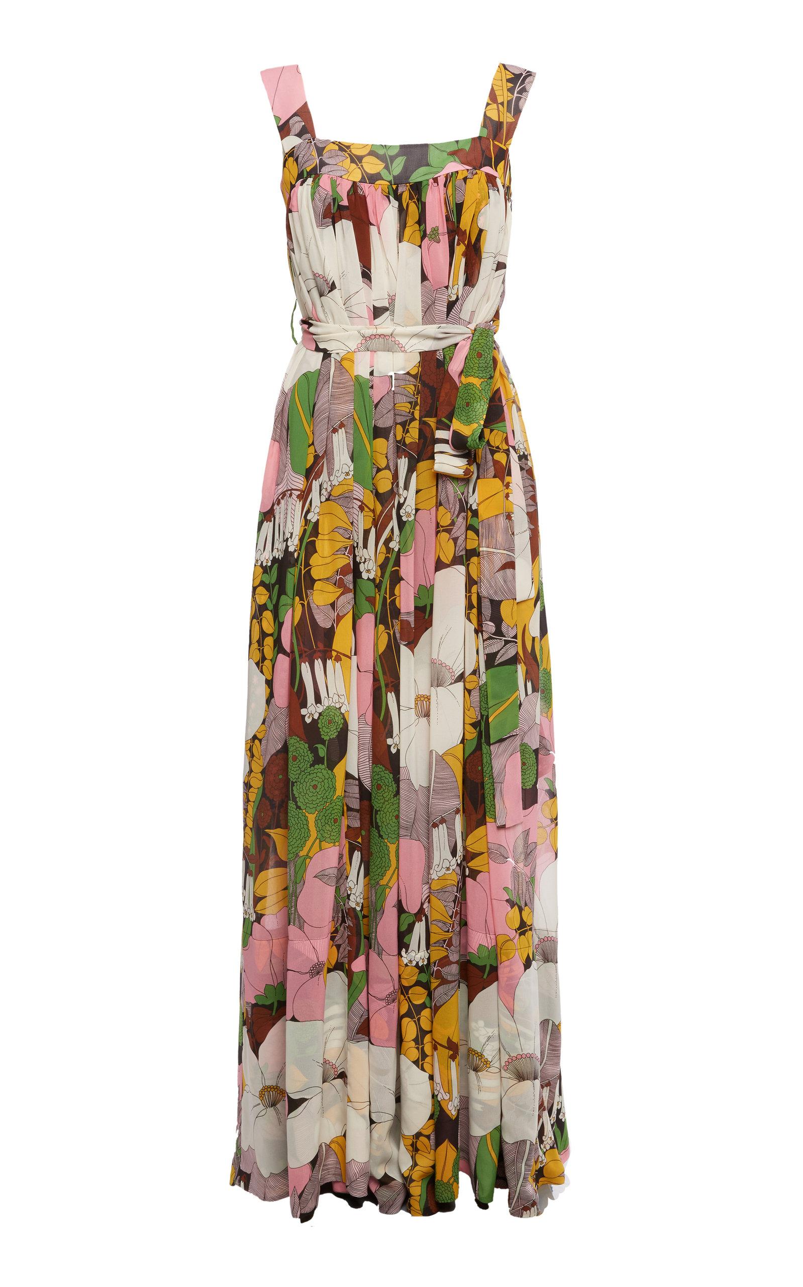 Buy La DoubleJ Mimosa Floral Midi Dress online, shop La DoubleJ at the best price
