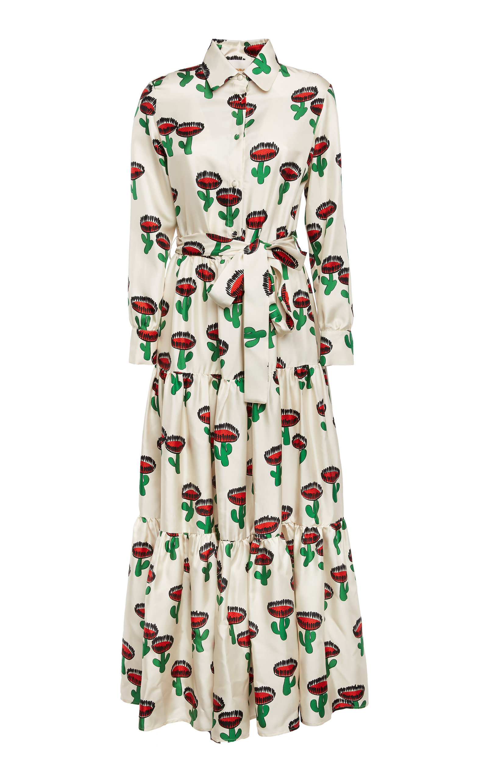 Buy La DoubleJ Bellini Printed Silk Maxi Dress online, shop La DoubleJ at the best price