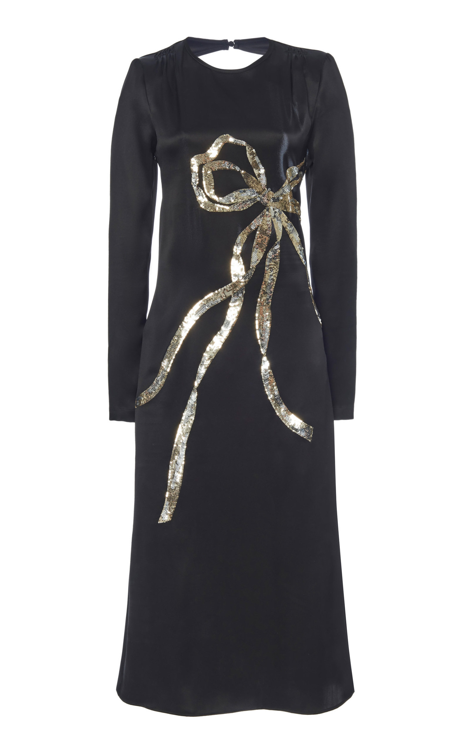 Buy N°21 Bow-Detailed Silk Dress online, shop N°21 at the best price
