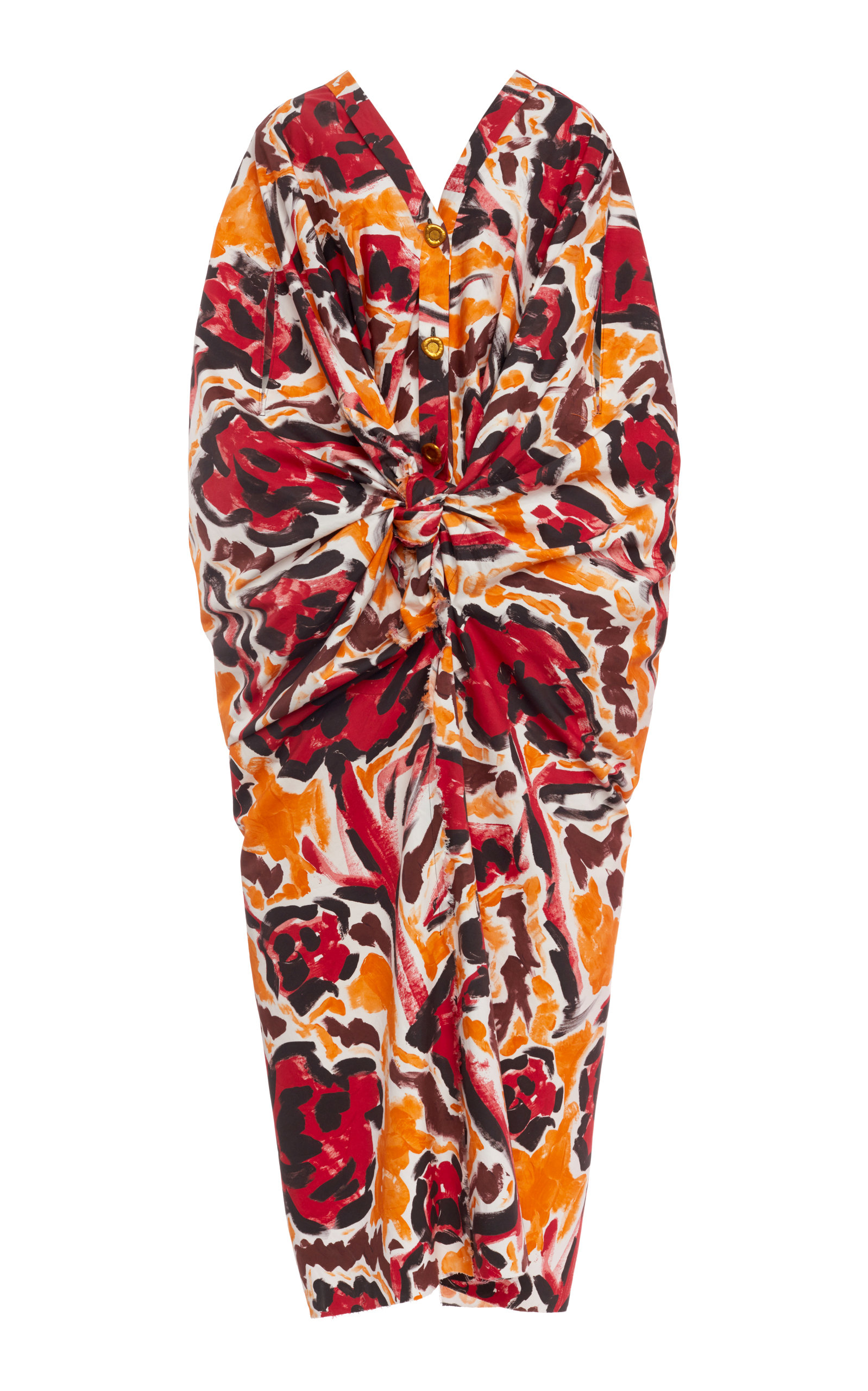Buy Marni Printed Gathered Cotton Midi Dress online, shop Marni at the best price