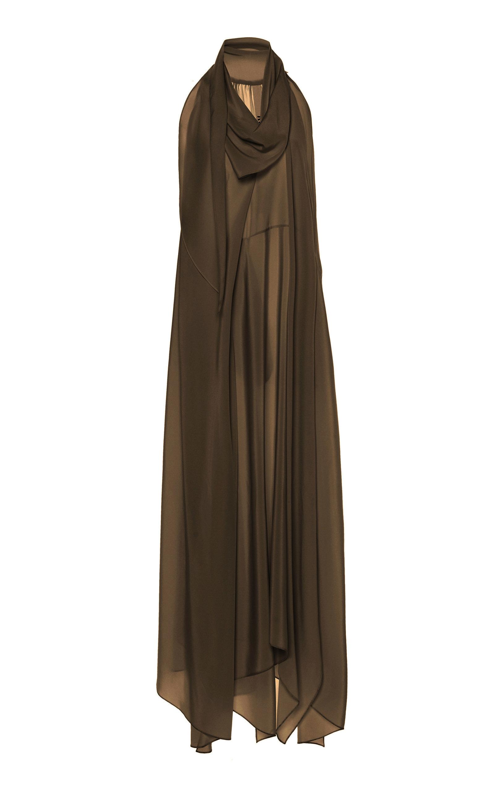 Buy Petar Petrov Aliya Draped Silk-Chiffon Maxi Dress online, shop Petar Petrov at the best price