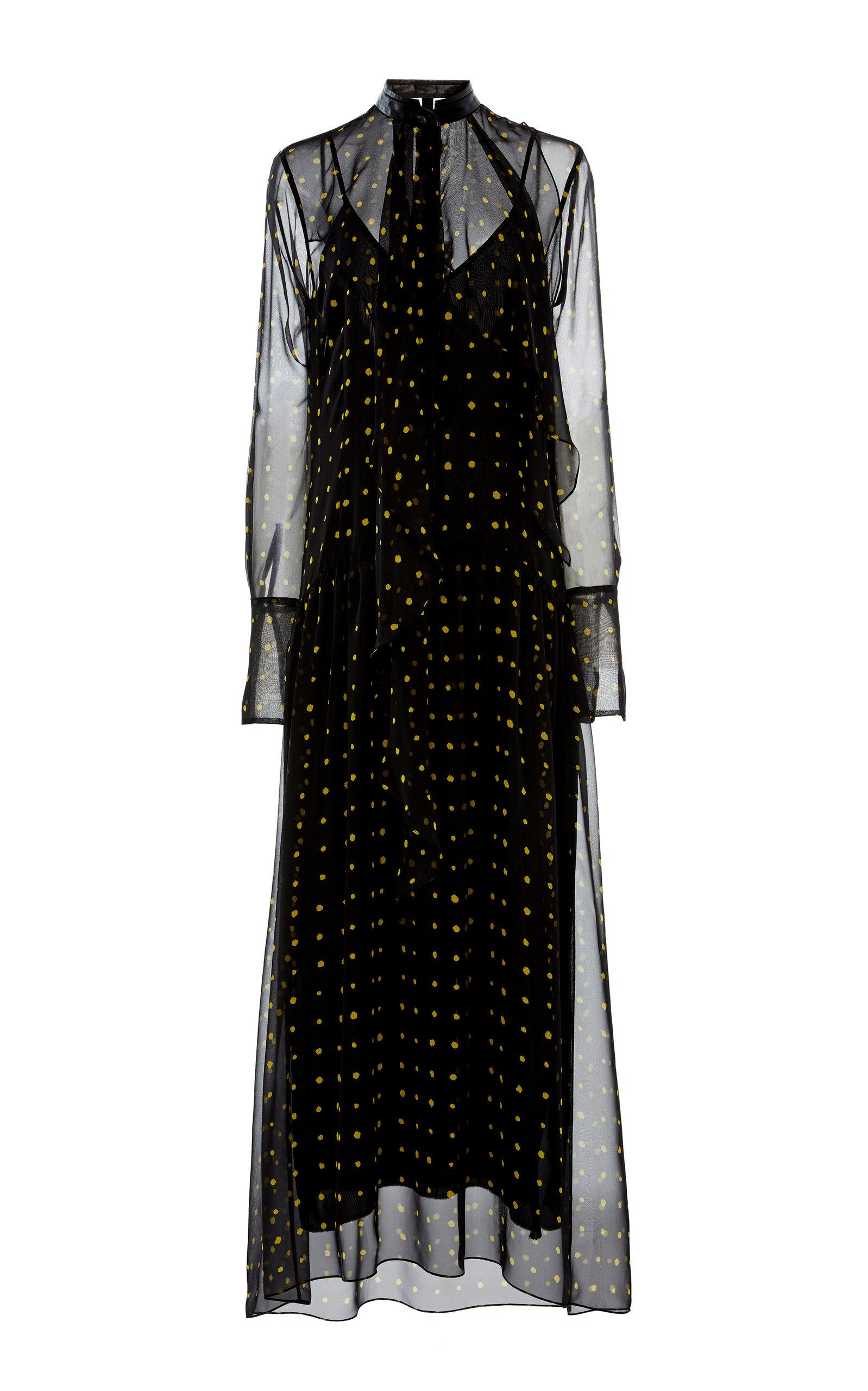 Buy Petar Petrov Alisson Flocked Silk-Tulle Midi Dress online, shop Petar Petrov at the best price