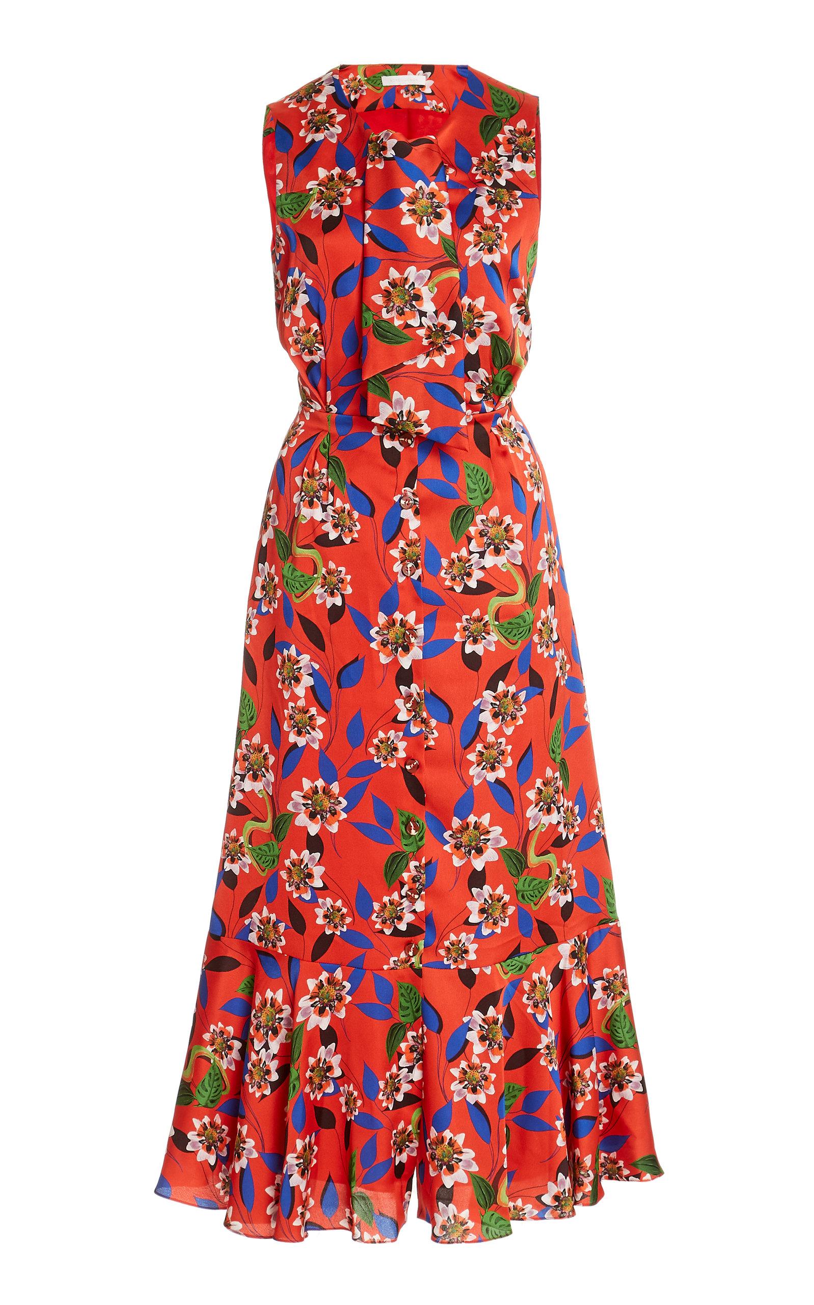 Buy Borgo De Nor Dreaming in Colour Floral-Print Crepe Dress online, shop Borgo De Nor at the best price