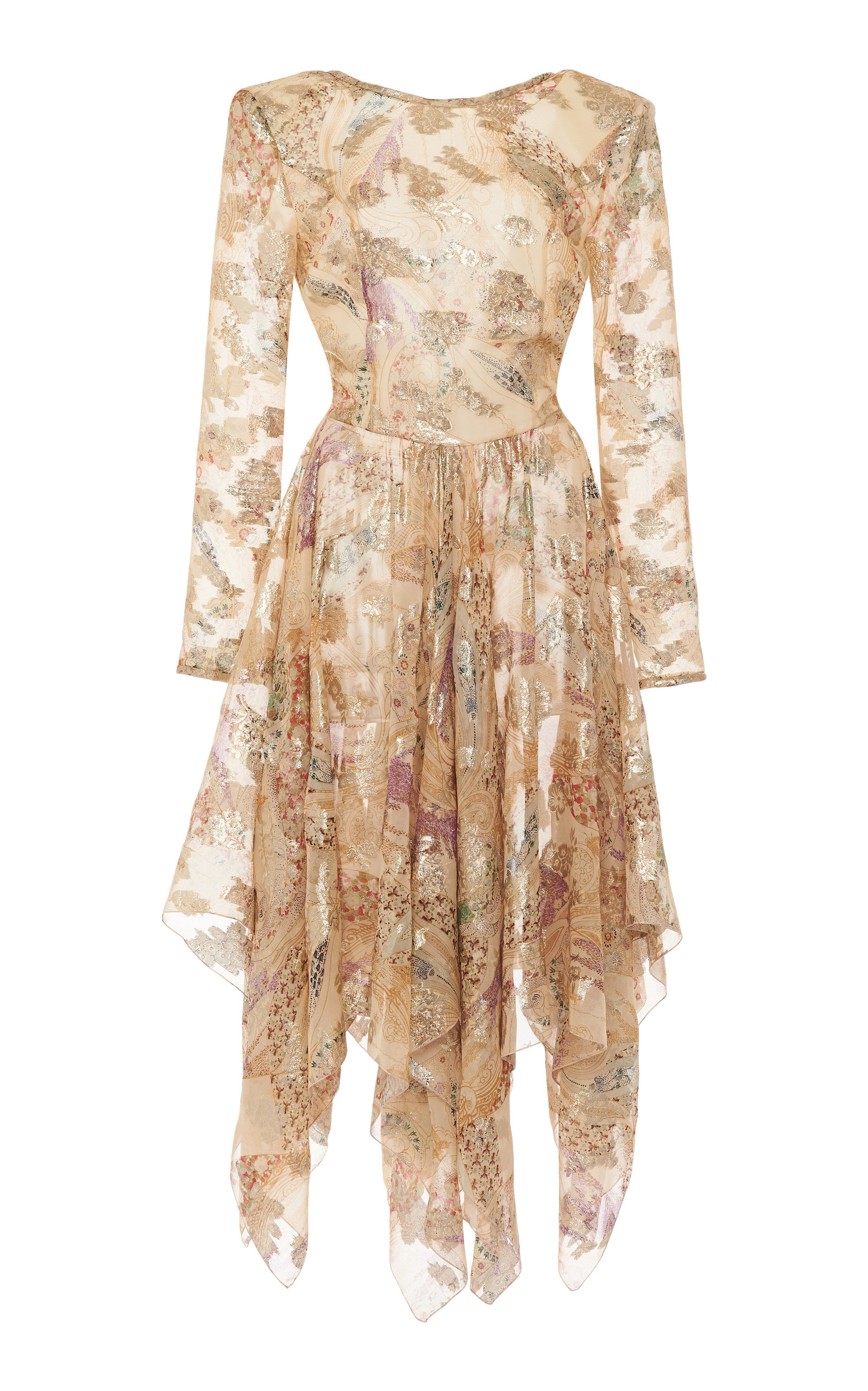 Buy Etro Asymmetric Metallic Fil Coupé Dress online, shop Etro at the best price
