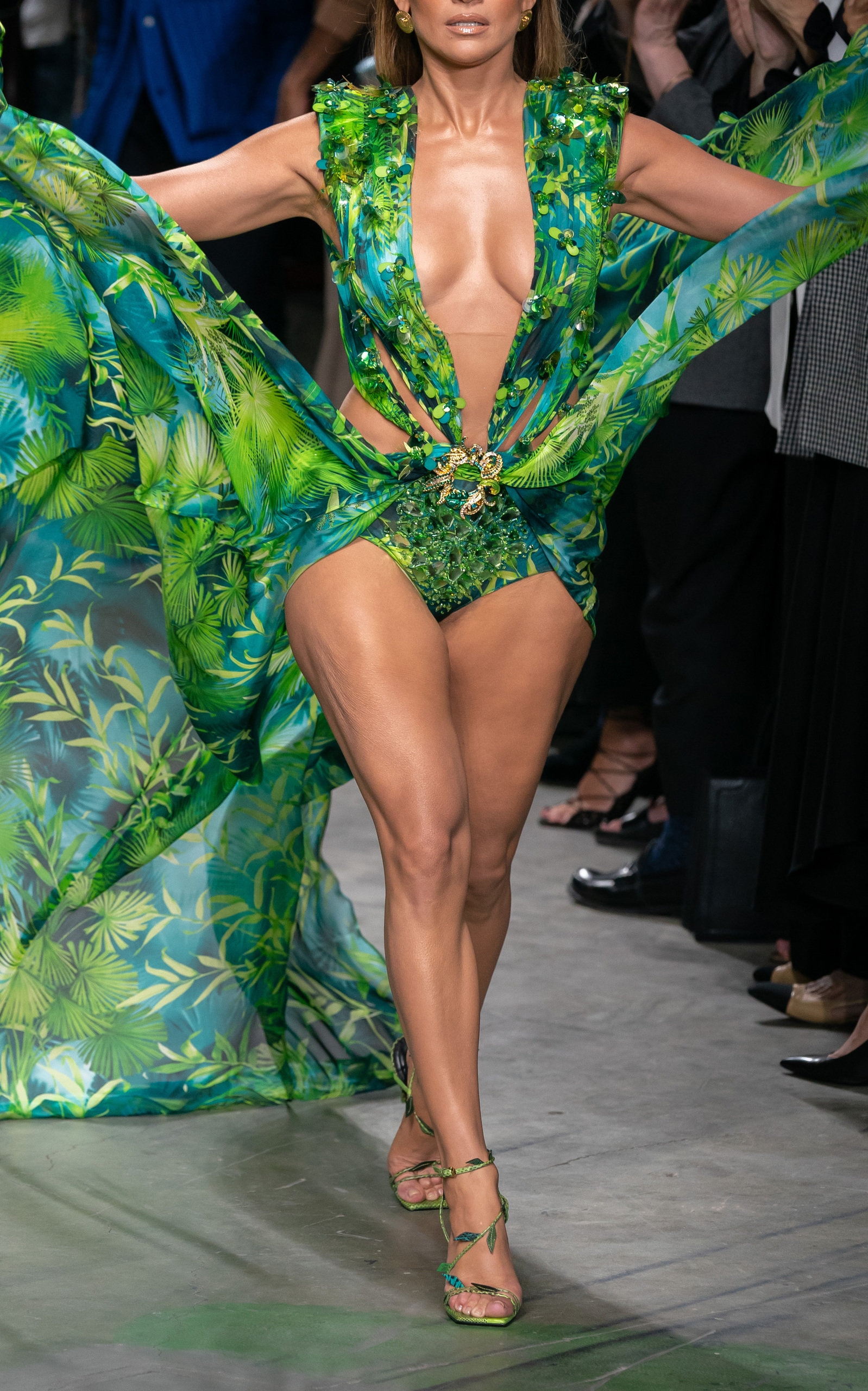Buy Versace Printed Cutout Silk Maxi Dress online, shop Versace at the best price