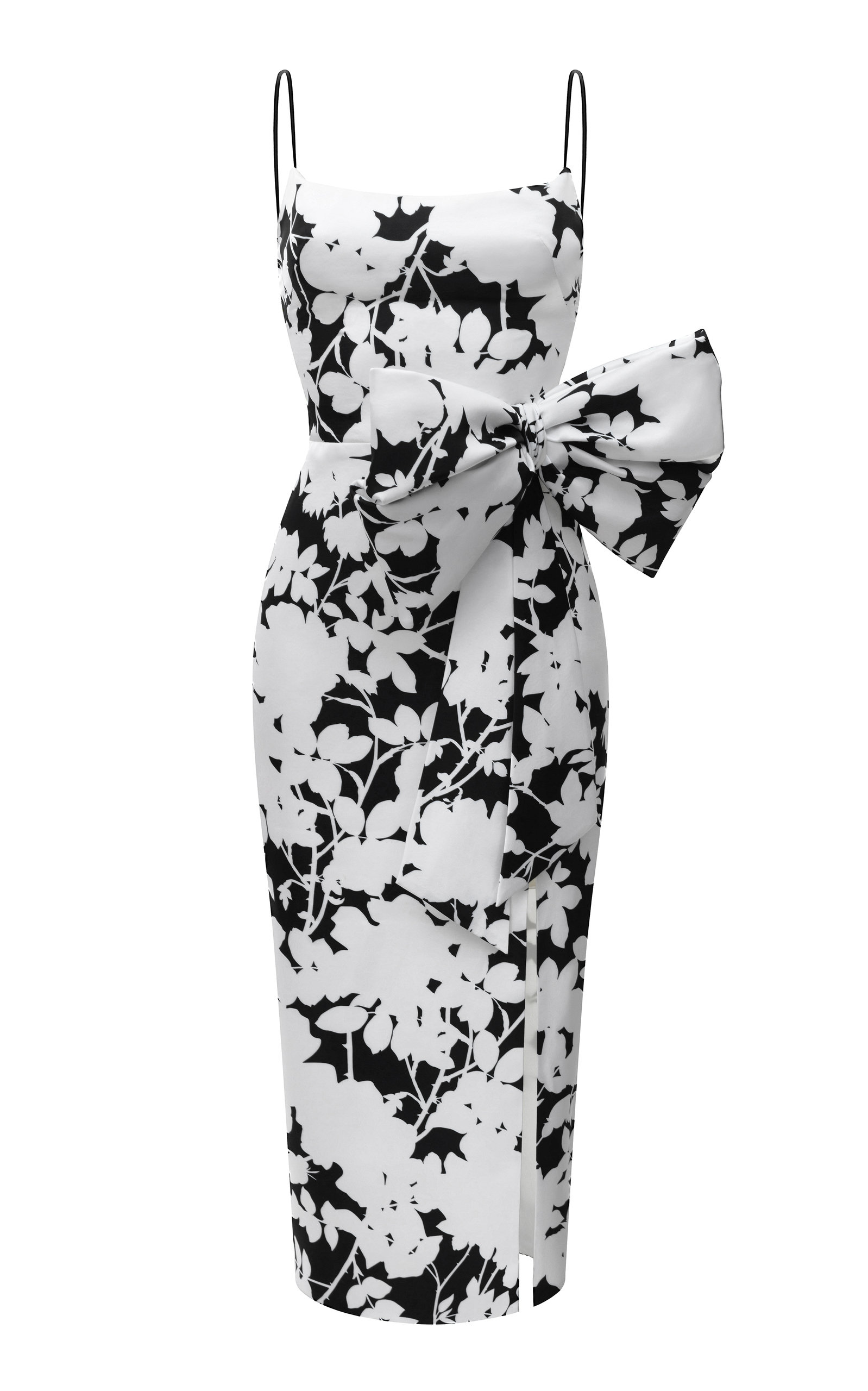 Buy Rasario Bow-Embellished Printed Satin Midi Dress online, shop Rasario at the best price