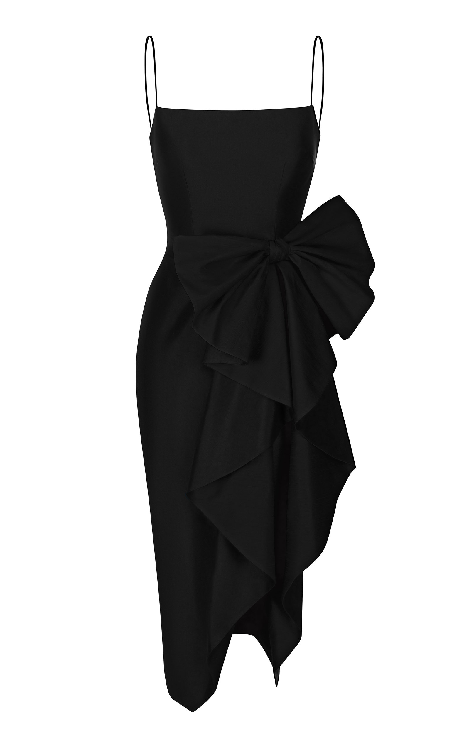 Buy Rasario Draped Bow Silk Midi Dress online, shop Rasario at the best price