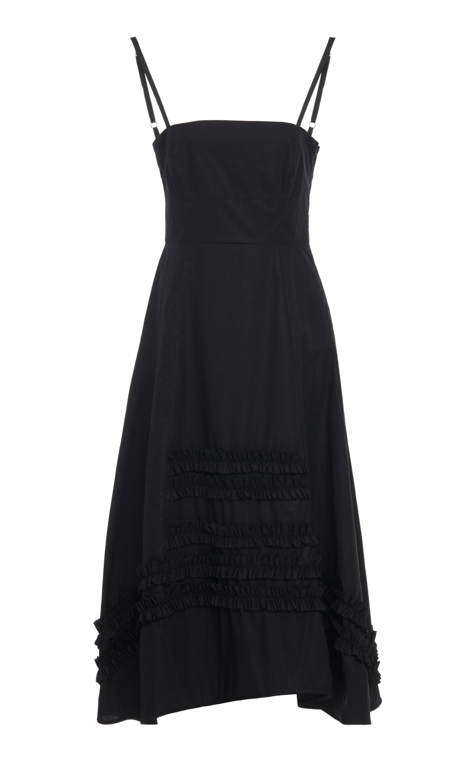 Buy Molly Goddard Flavio Ruffled Cotton Midi Dress online, shop Molly Goddard at the best price