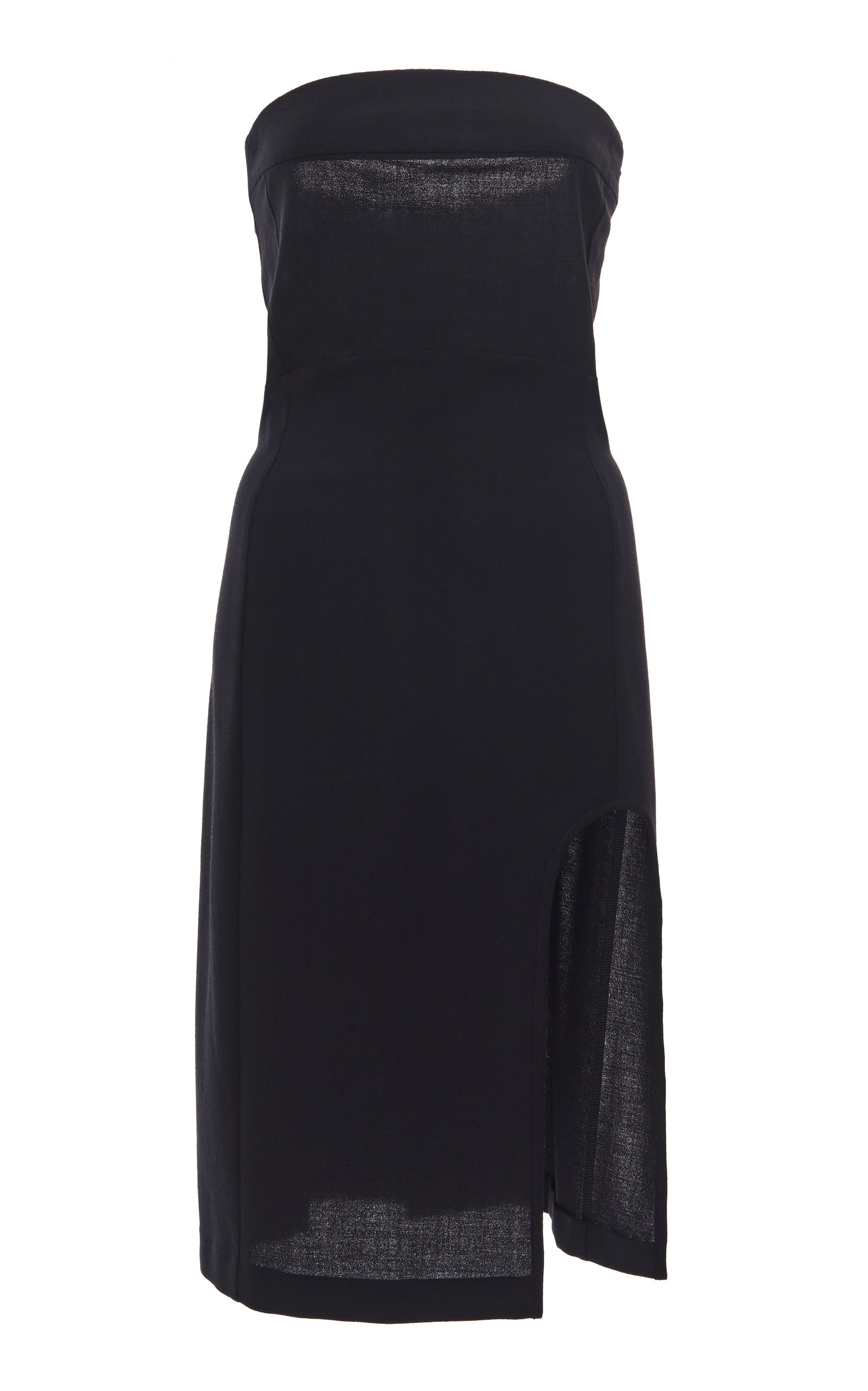 Buy Ann Demeulemeester Cutout Knit Strapless Midi Dress online, shop Ann Demeulemeester at the best price