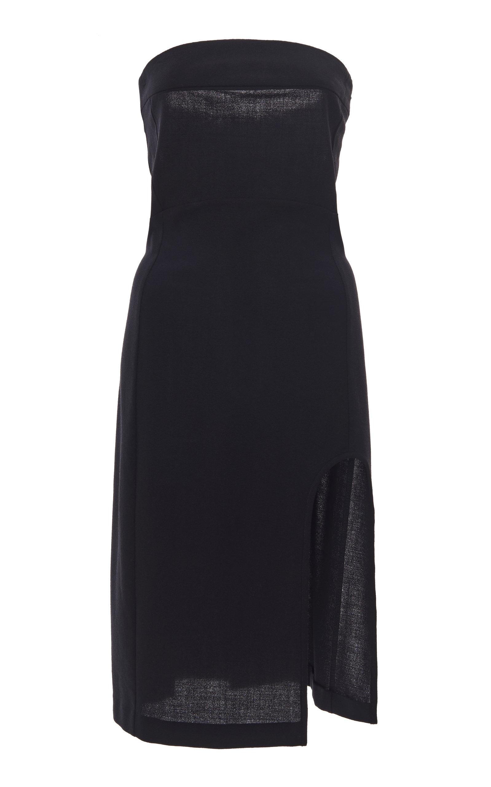 Buy Ann Demeulemeester Cutout Knit Strapless Midi Dress online, shop Ann Demeulemeester at the best price