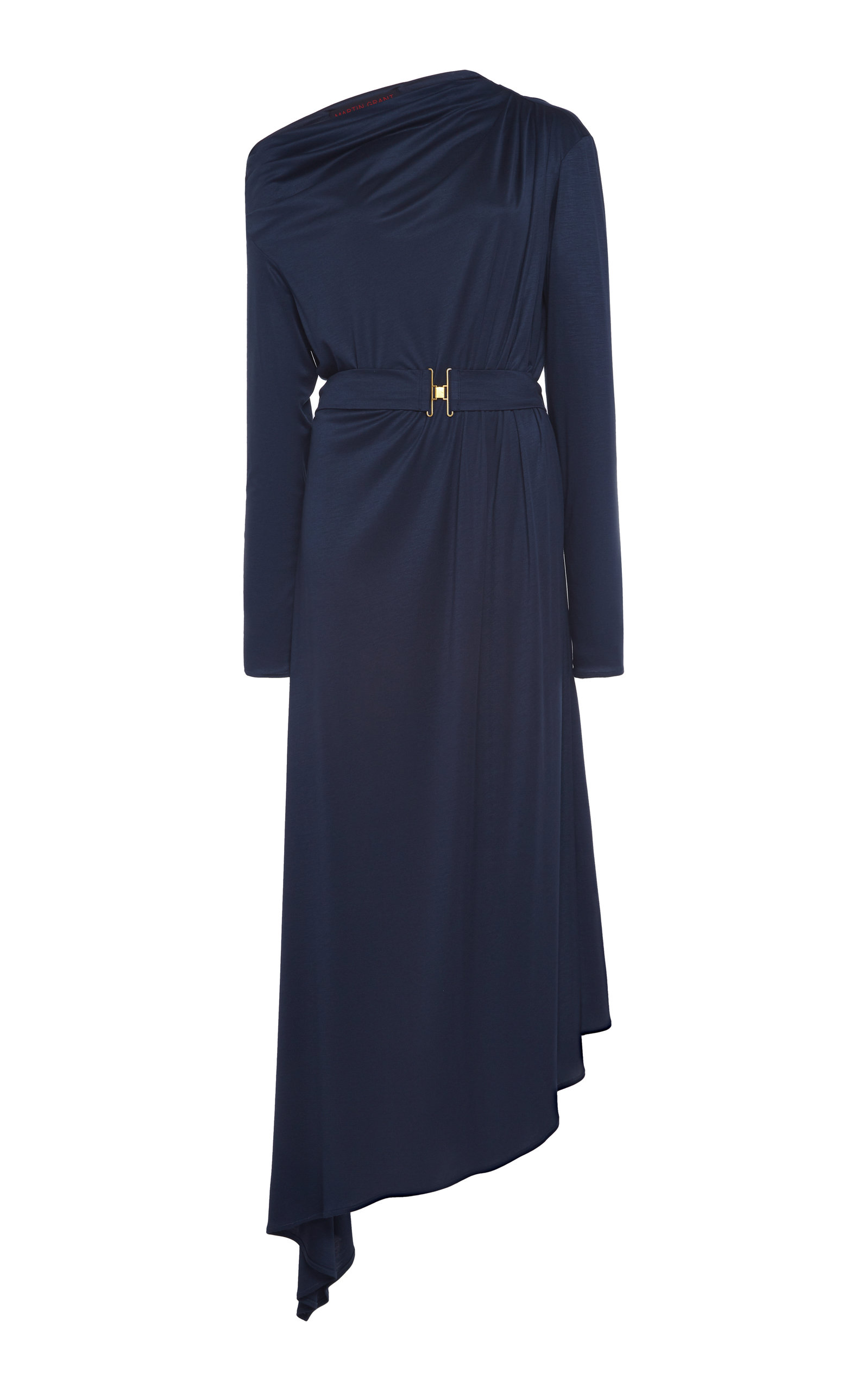 Buy Martin Grant Asymmetric Draped Jersey Dress online, shop Martin Grant at the best price