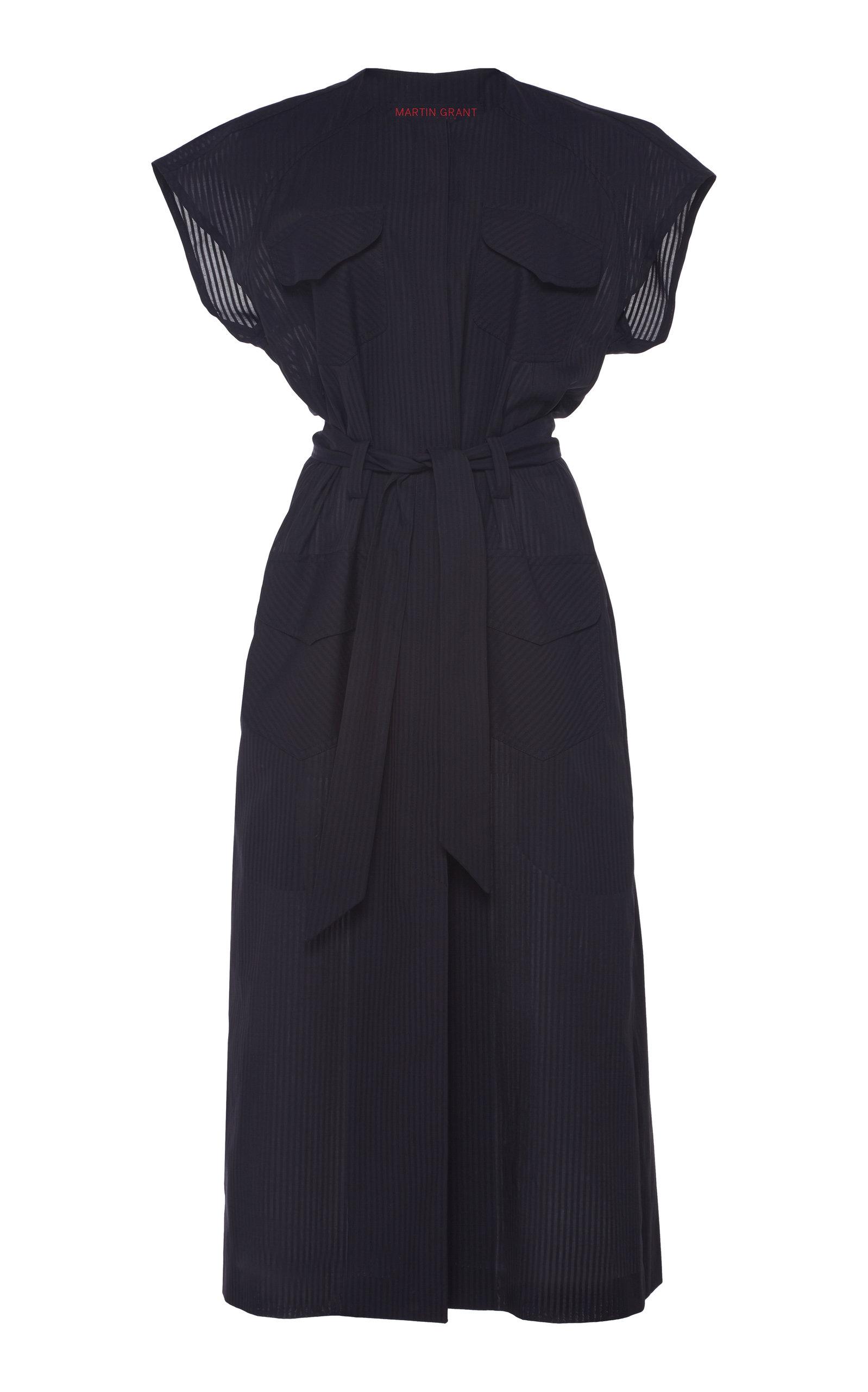 Buy Martin Grant Safari Cotton Midi Dress online, shop Martin Grant at the best price