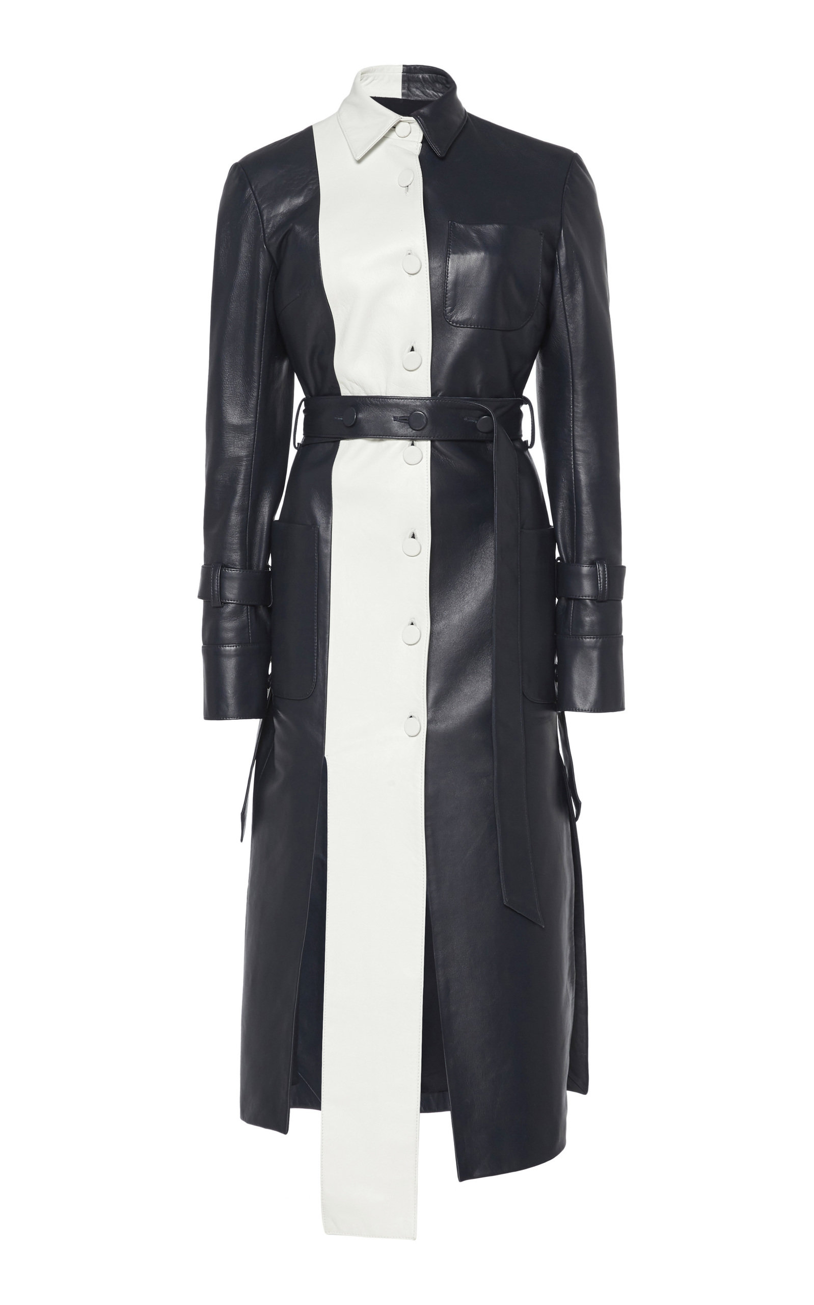 Buy Rokh Two-Tone Leather Dress online, shop Rokh at the best price