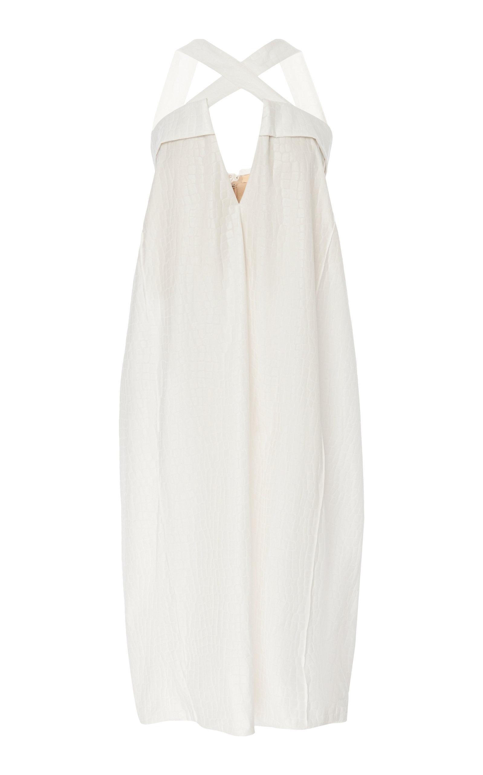 Buy Maison Margiela Croc-Effect Faux Leather Midi Dress online, shop Maison Margiela at the best price