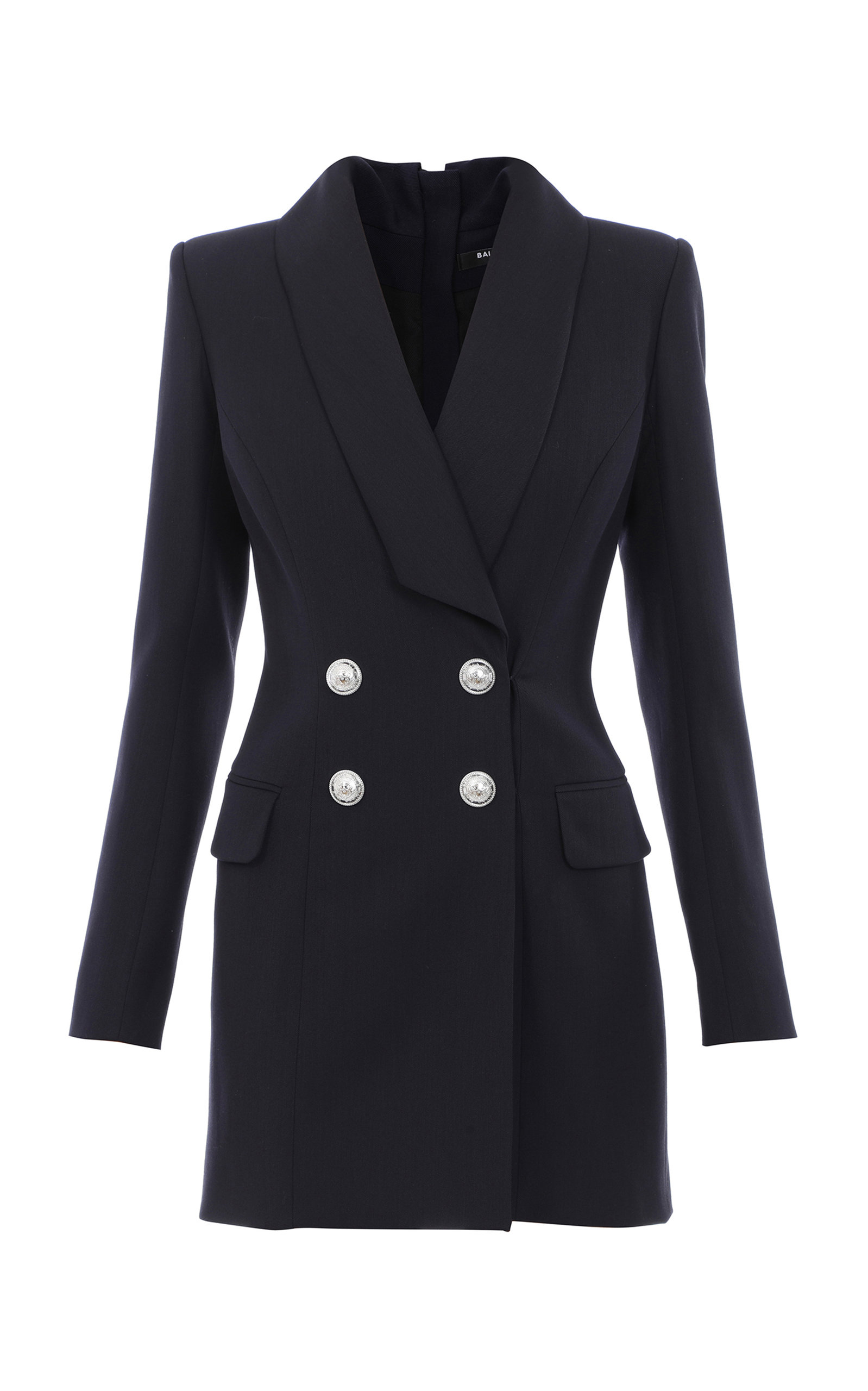 Buy Balmain Double-Breasted Mini Blazer Dress online, shop Balmain at the best price