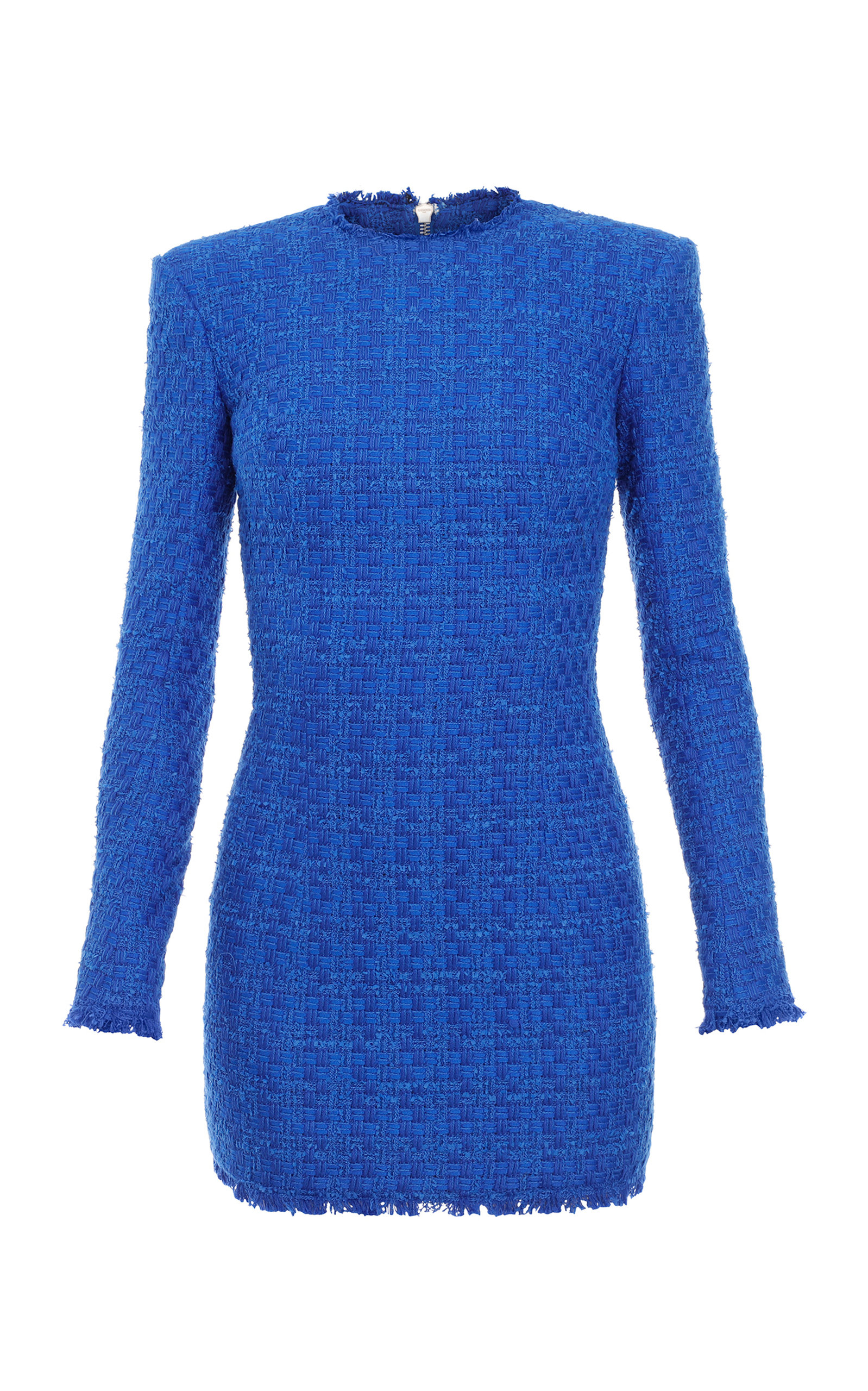 Buy Balmain Cotton-Blend Tweed Mini Dress online, shop Balmain at the best price