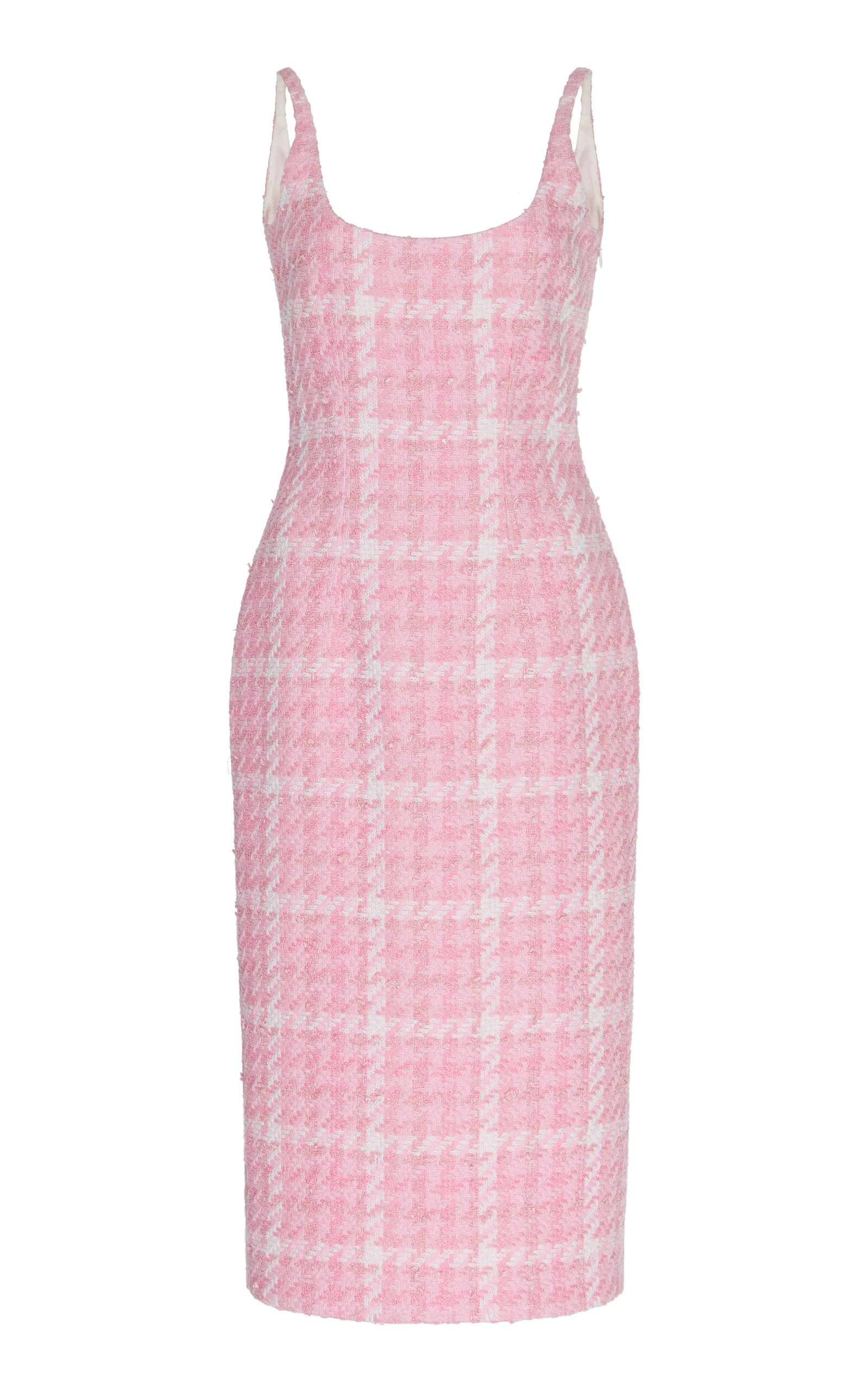 Buy Alessandra Rich Houndstooth Tweed Midi Dress online, shop Alessandra Rich at the best price
