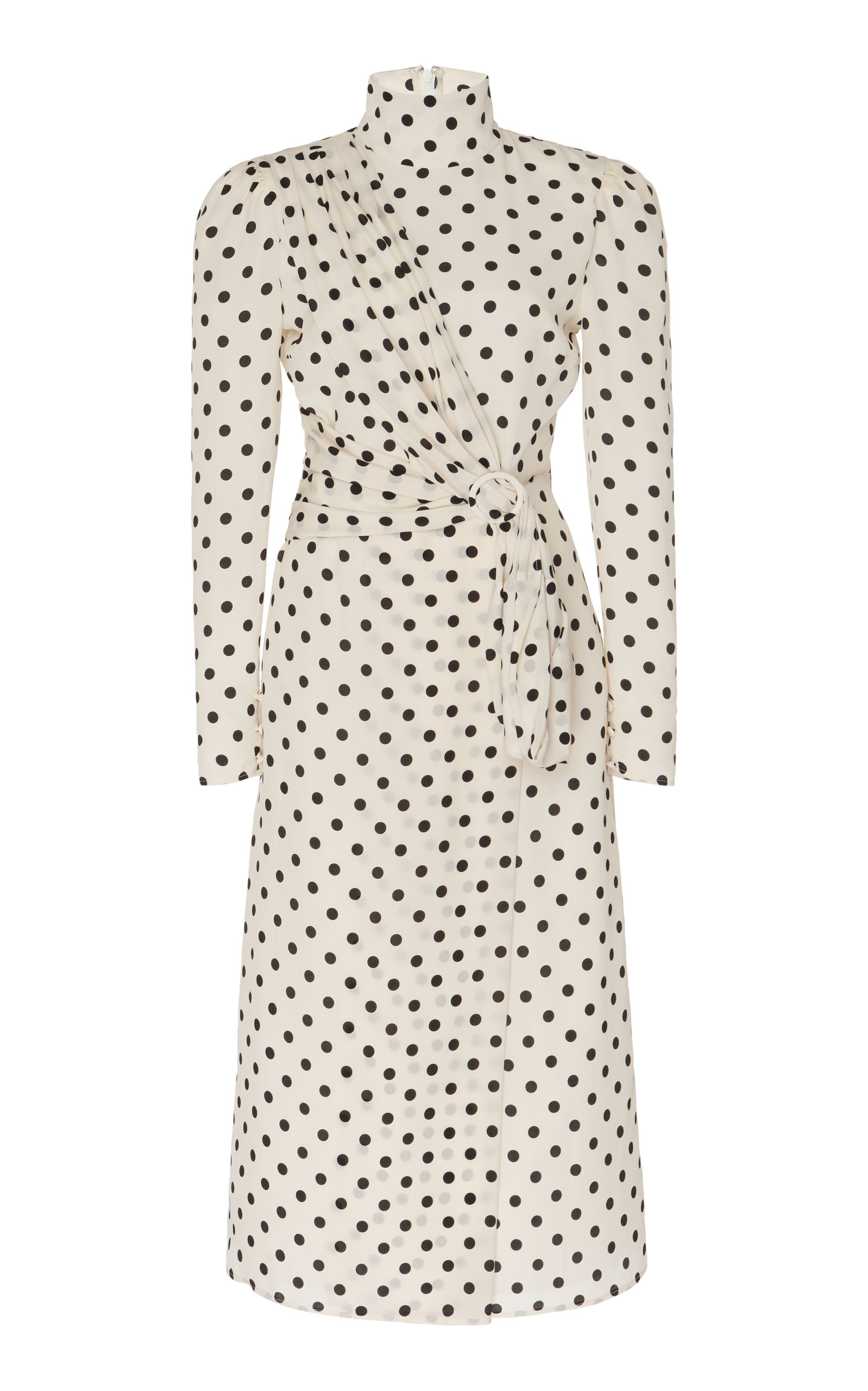 Buy Alessandra Rich Embellished Polka-Dot Silk Midi Dress online, shop Alessandra Rich at the best price