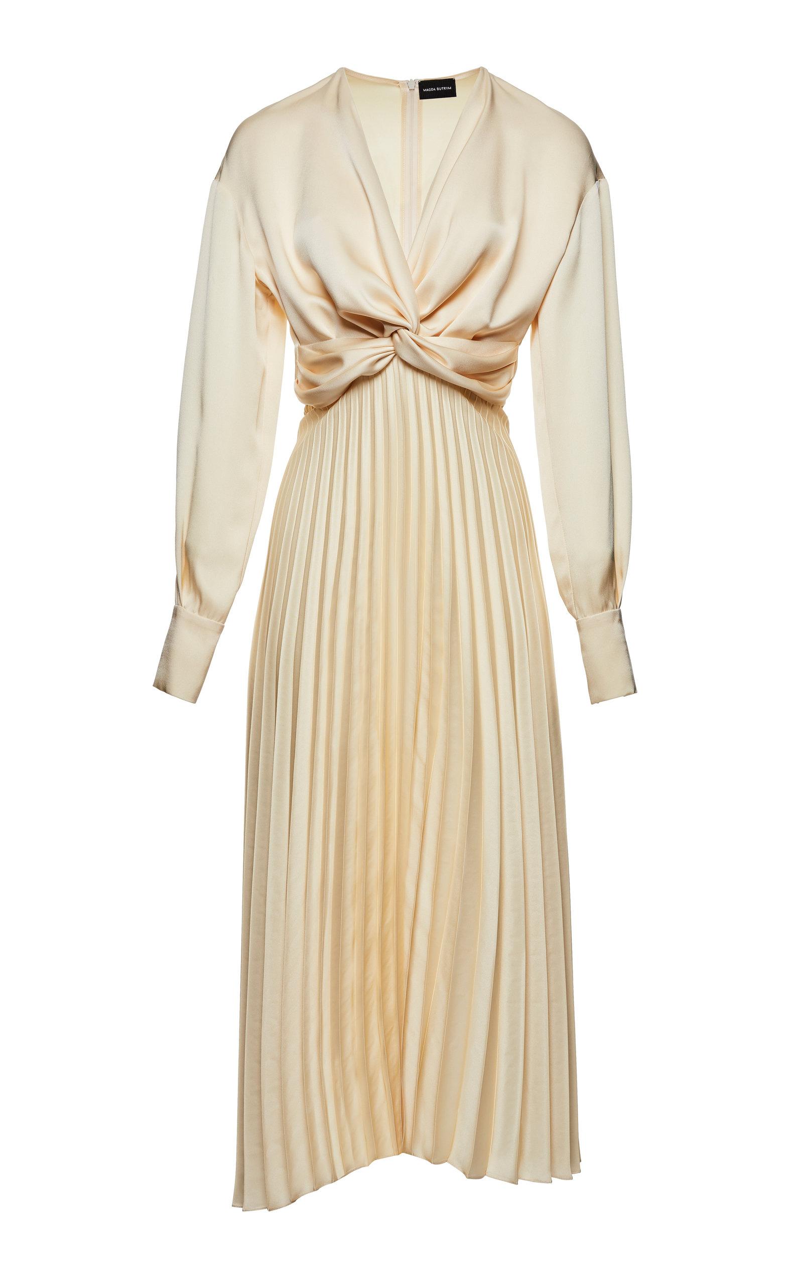 Buy Magda Butrym Milano Pleated Silk Dress online, shop Magda Butrym at the best price