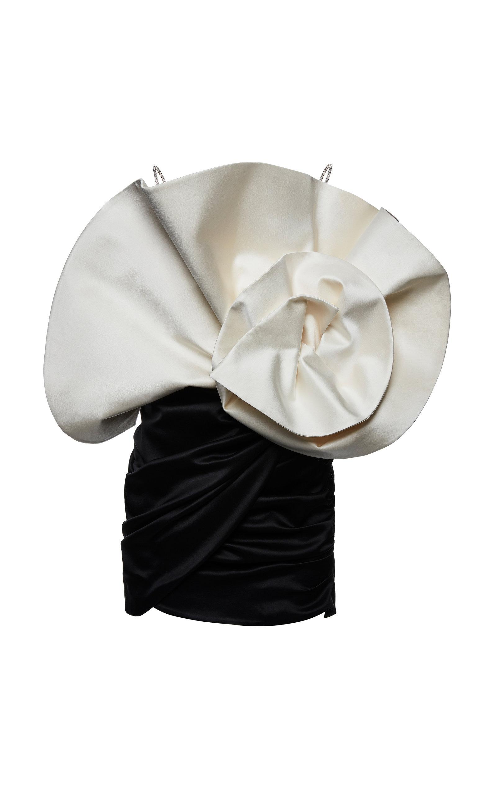 Buy Magda Butrym Belgrade Draped Silk-Wool Mini Dress online, shop Magda Butrym at the best price
