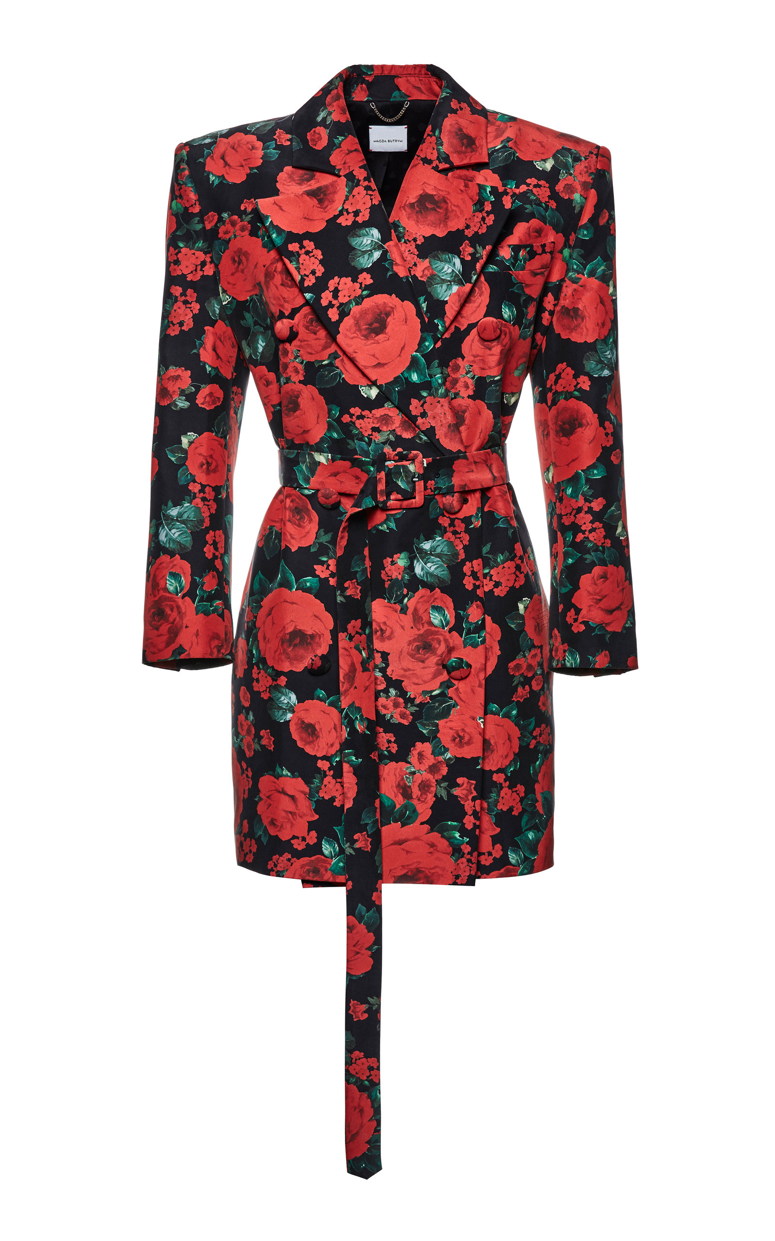 Buy Magda Butrym Kosovo Floral-Print Silk Blazer Dress online, shop Magda Butrym at the best price