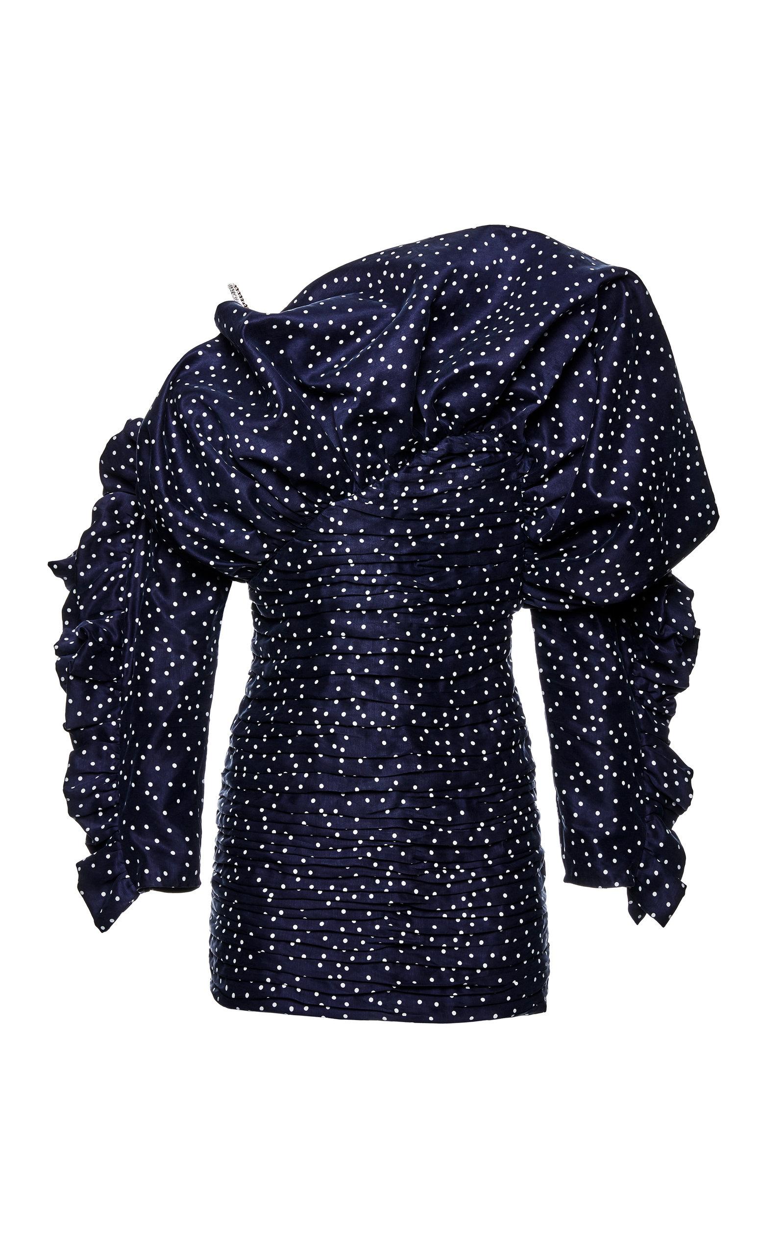 Buy Magda Butrym Trani Polka-Dot Taffeta Dress online, shop Magda Butrym at the best price