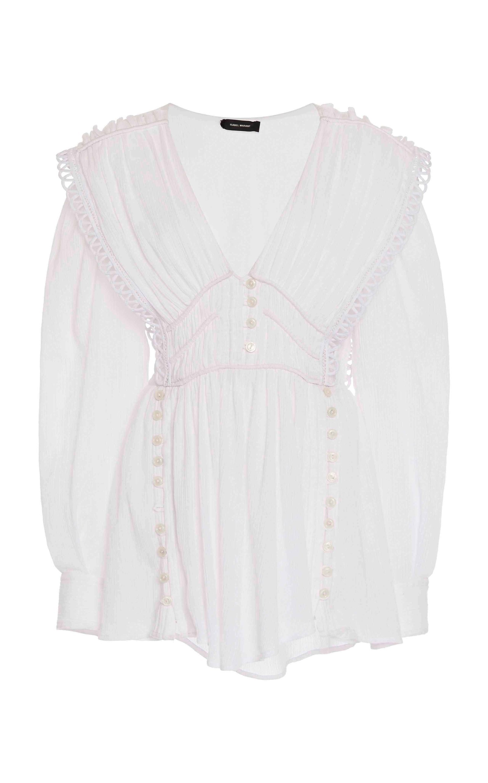 Buy Isabel Marant Yaxo Embroidered Cotton-Voile Mini Dress online, shop Isabel Marant at the best price
