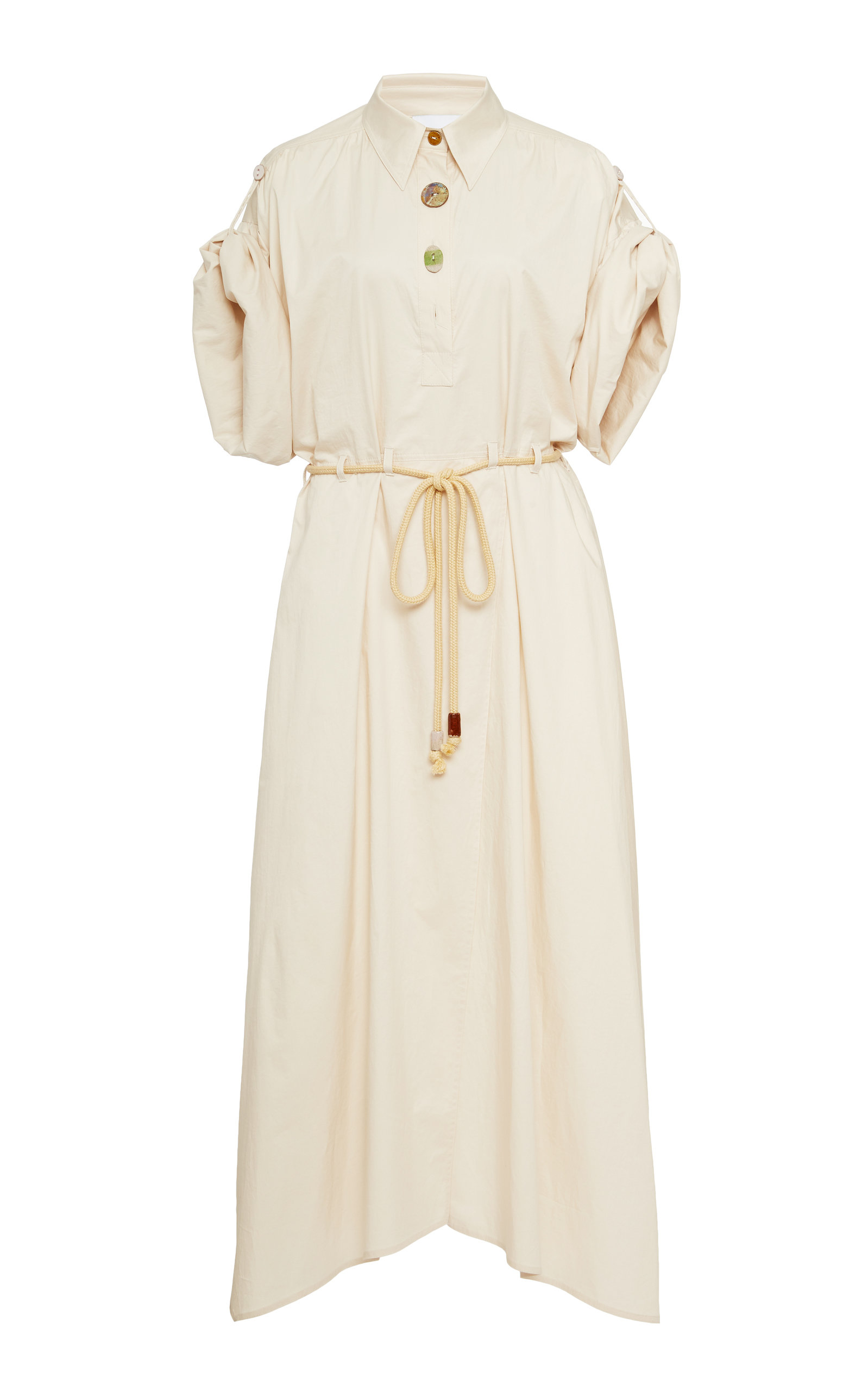 Buy Nanushka Hanna Cotton-Twill Midi Dress online, shop Nanushka at the best price