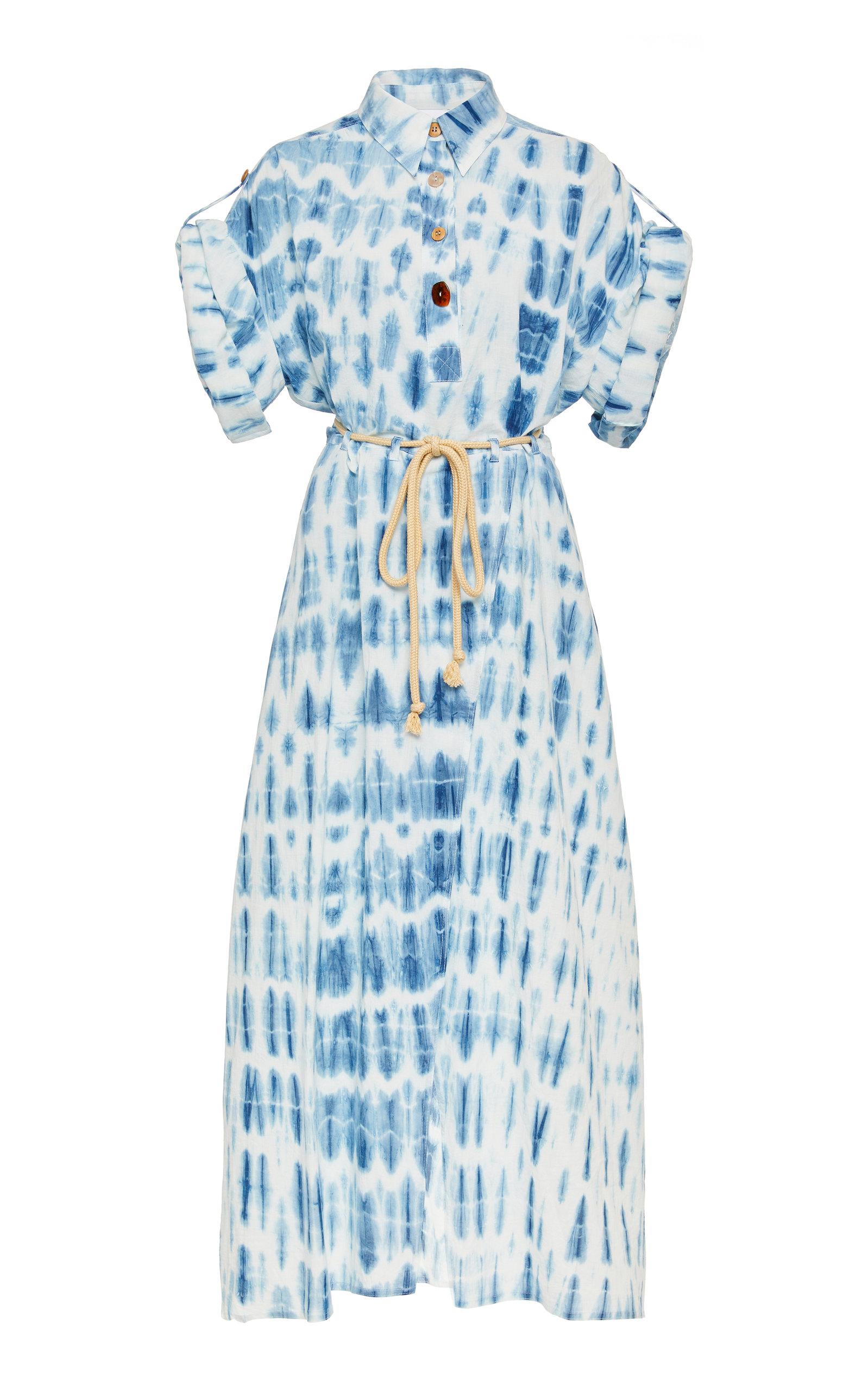 Buy Nanushka Hanna Tie-Dye Cotton Midi Dress online, shop Nanushka at the best price