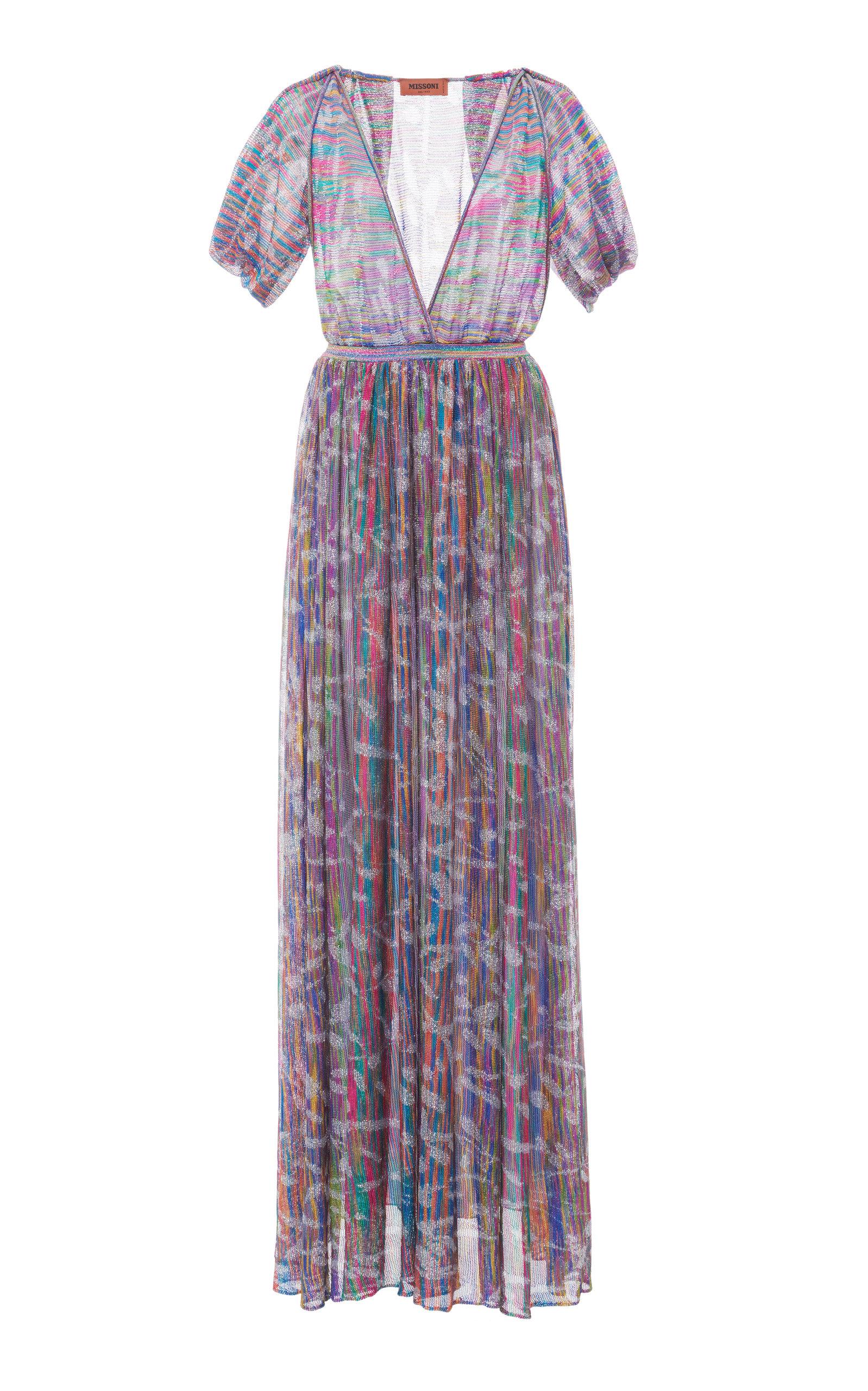 Buy Missoni Printed Fil Coupé Gauze Maxi Dress online, shop Missoni at the best price