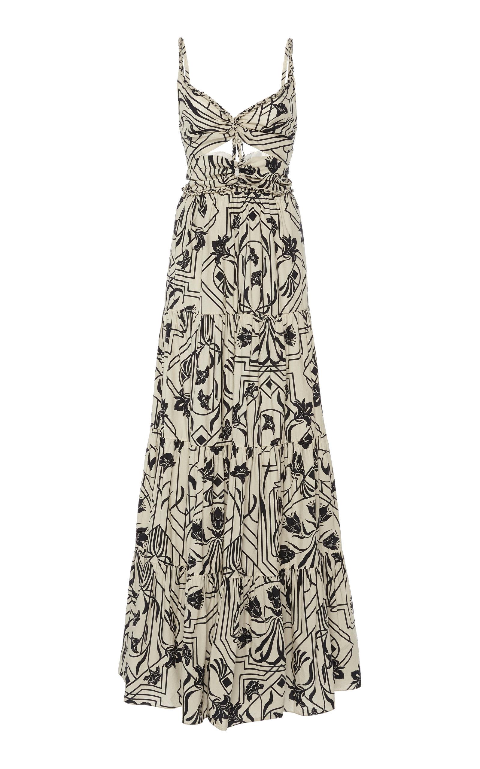 Buy Johanna Ortiz Floral Architecture Printed Cotton Maxi Dress online, shop Johanna Ortiz at the best price