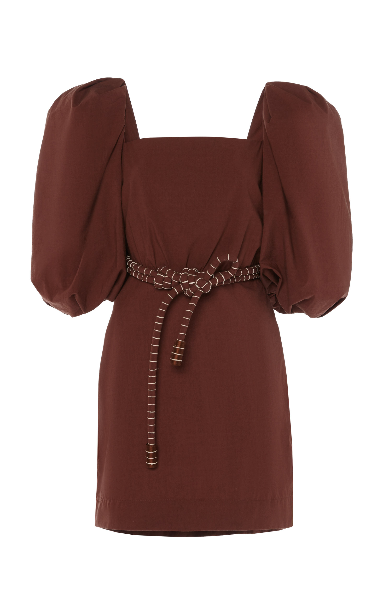 Buy Johanna Ortiz Linear Rhythm Cotton Mini Dress online, shop Johanna Ortiz at the best price