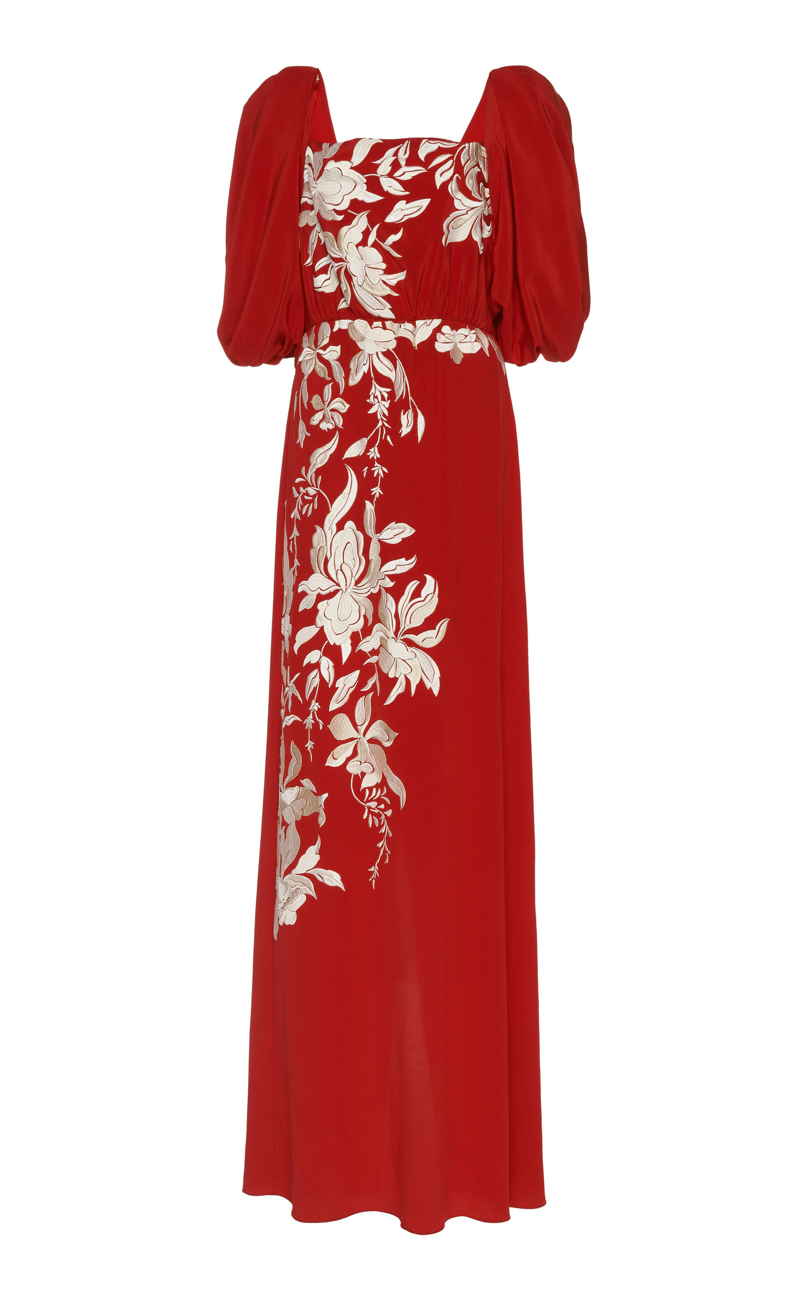 Buy Johanna Ortiz Floral Themes Embroidered Silk Maxi Dress online, shop Johanna Ortiz at the best price