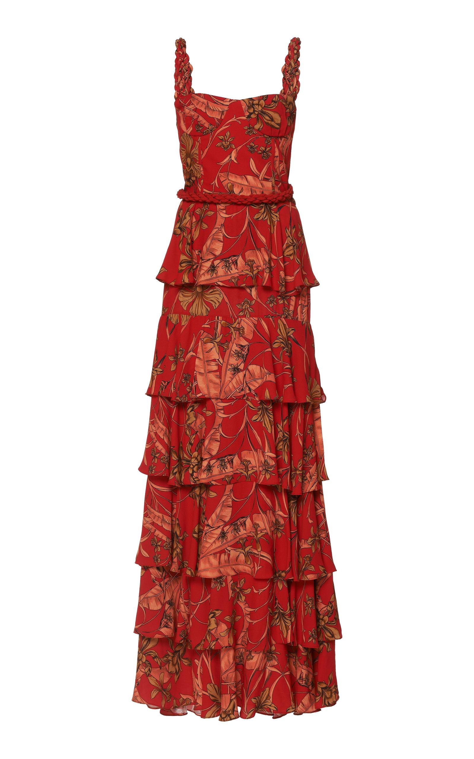 Buy Johanna Ortiz Life Goals Printed Tiered Maxi Dress online, shop Johanna Ortiz at the best price