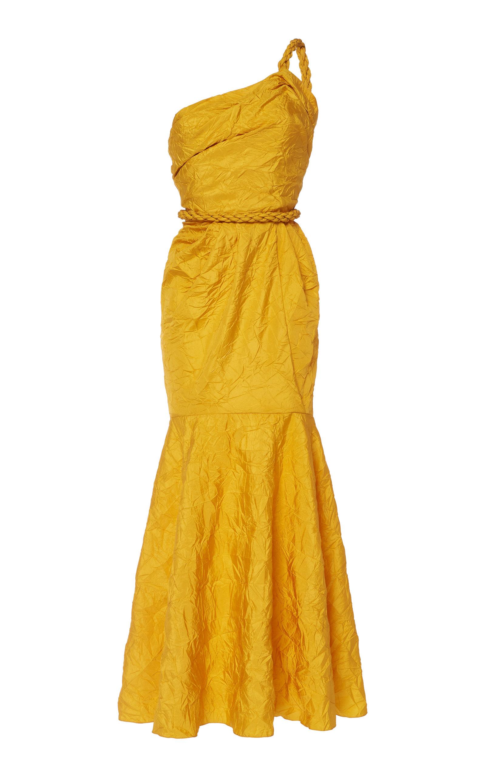 Buy Johanna Ortiz La Carolina Draped Taffeta Maxi Dress online, shop Johanna Ortiz at the best price