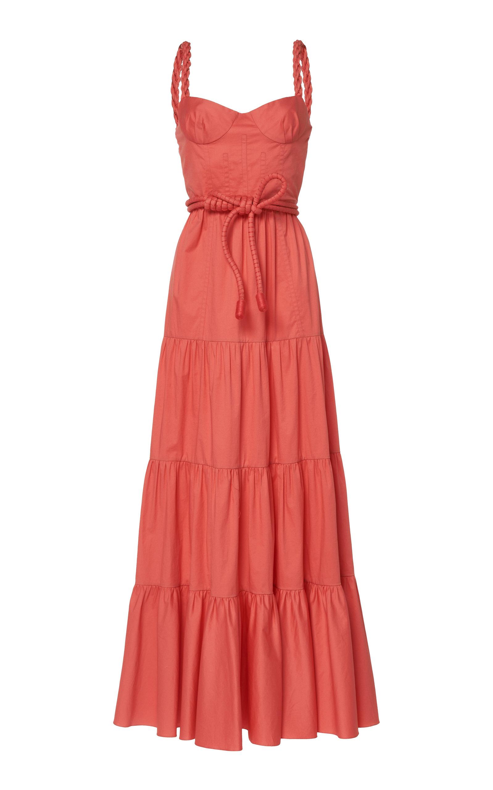 Buy Johanna Ortiz Calming Spirit Gathered Cotton-Blend Maxi Dress online, shop Johanna Ortiz at the best price