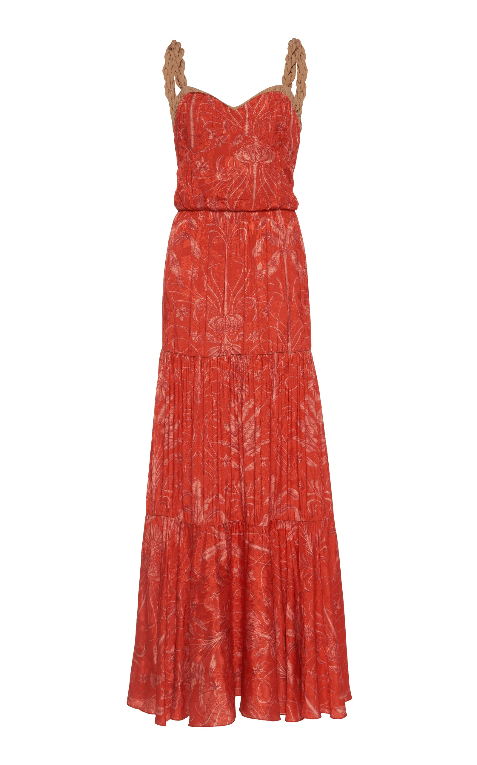 Buy Johanna Ortiz Uncertainty Principles Printed Jacquard Maxi Dress online, shop Johanna Ortiz at the best price
