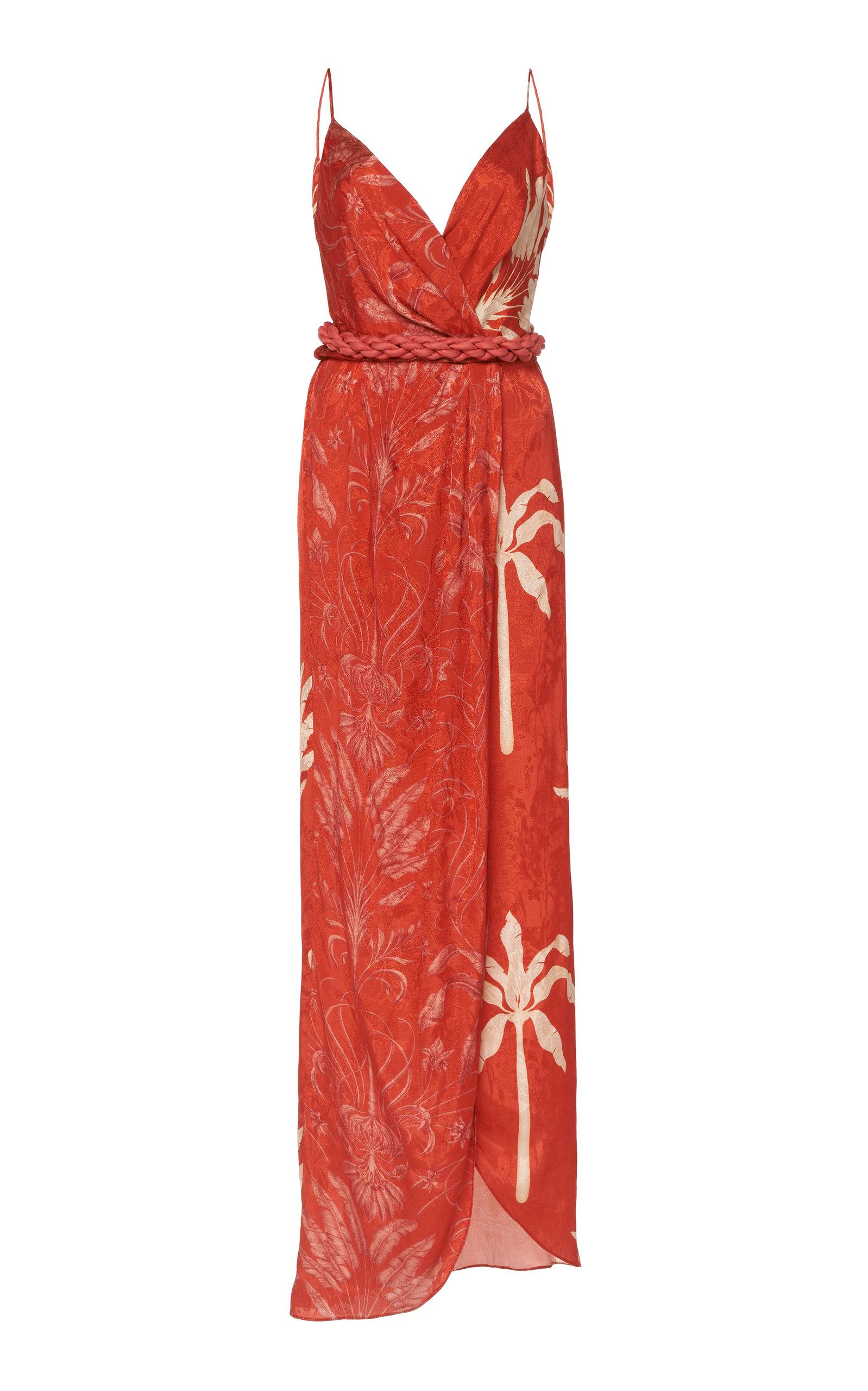Buy Johanna Ortiz Color Flow Printed Jacquard Maxi Dress online, shop Johanna Ortiz at the best price