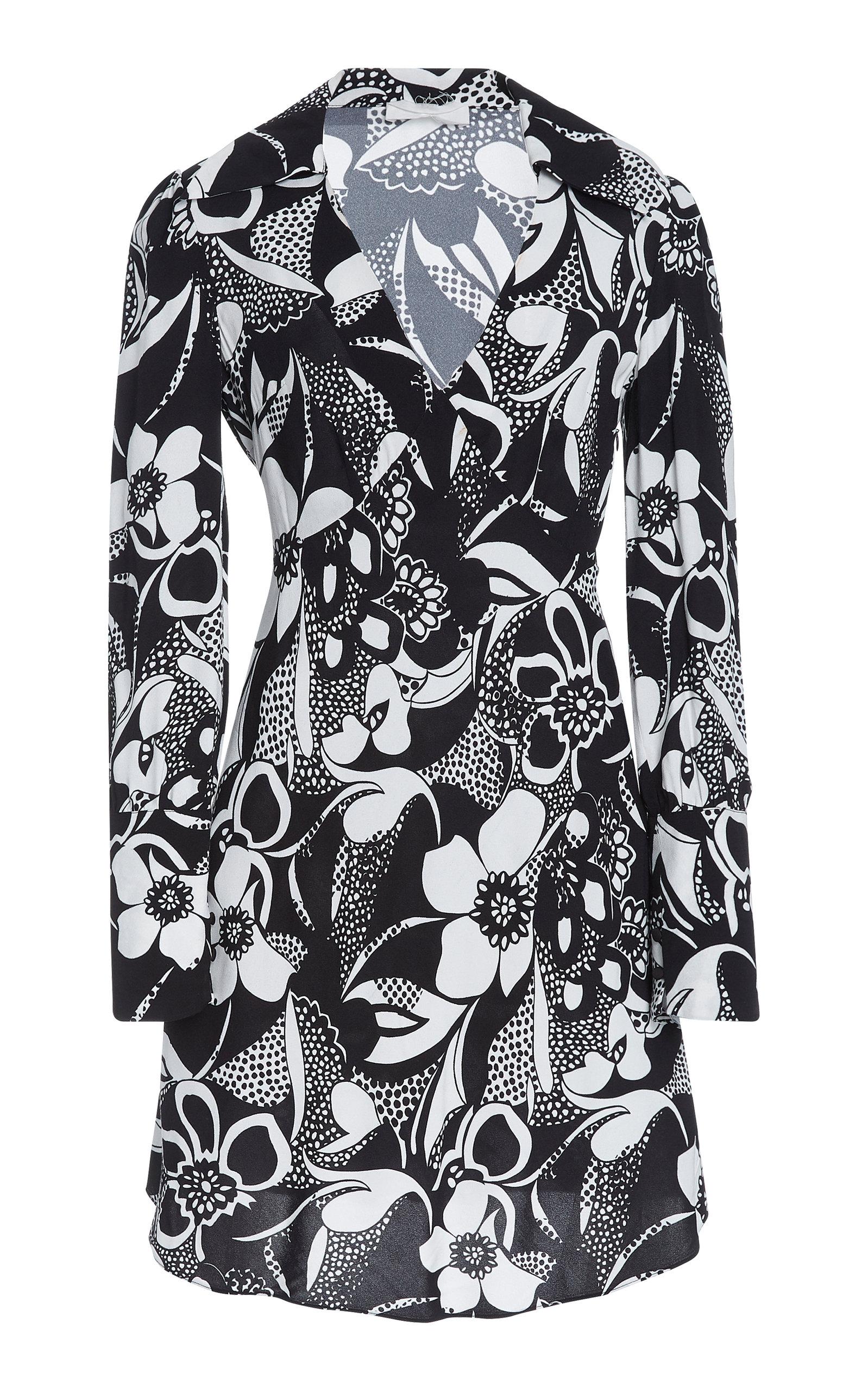 Buy RIXO Nola Floral-Print Stretch-Crepe Mini Dress online, shop RIXO at the best price