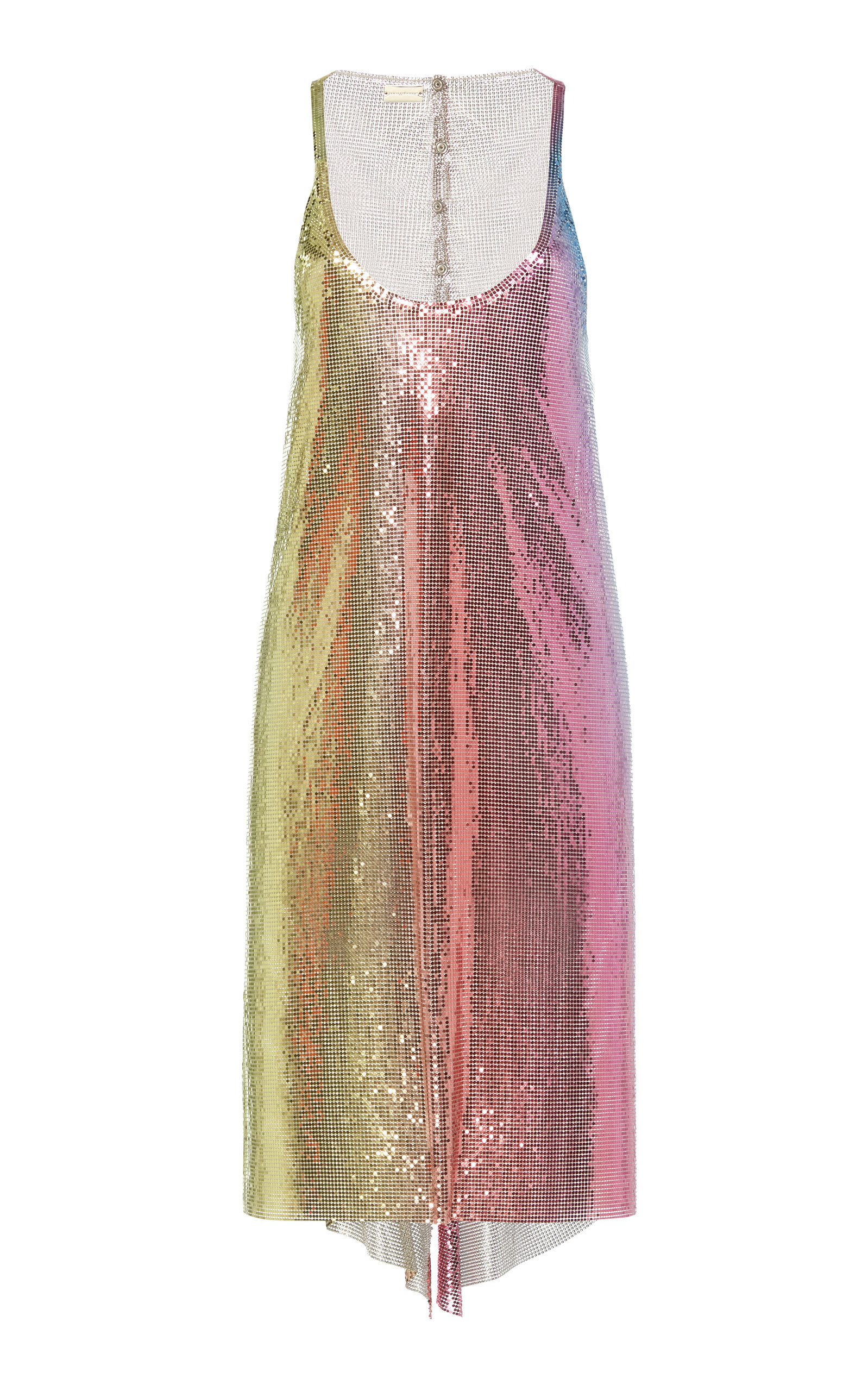 Buy Paco Rabanne Ombré Chainmail Slip Dress online, shop Paco Rabanne at the best price