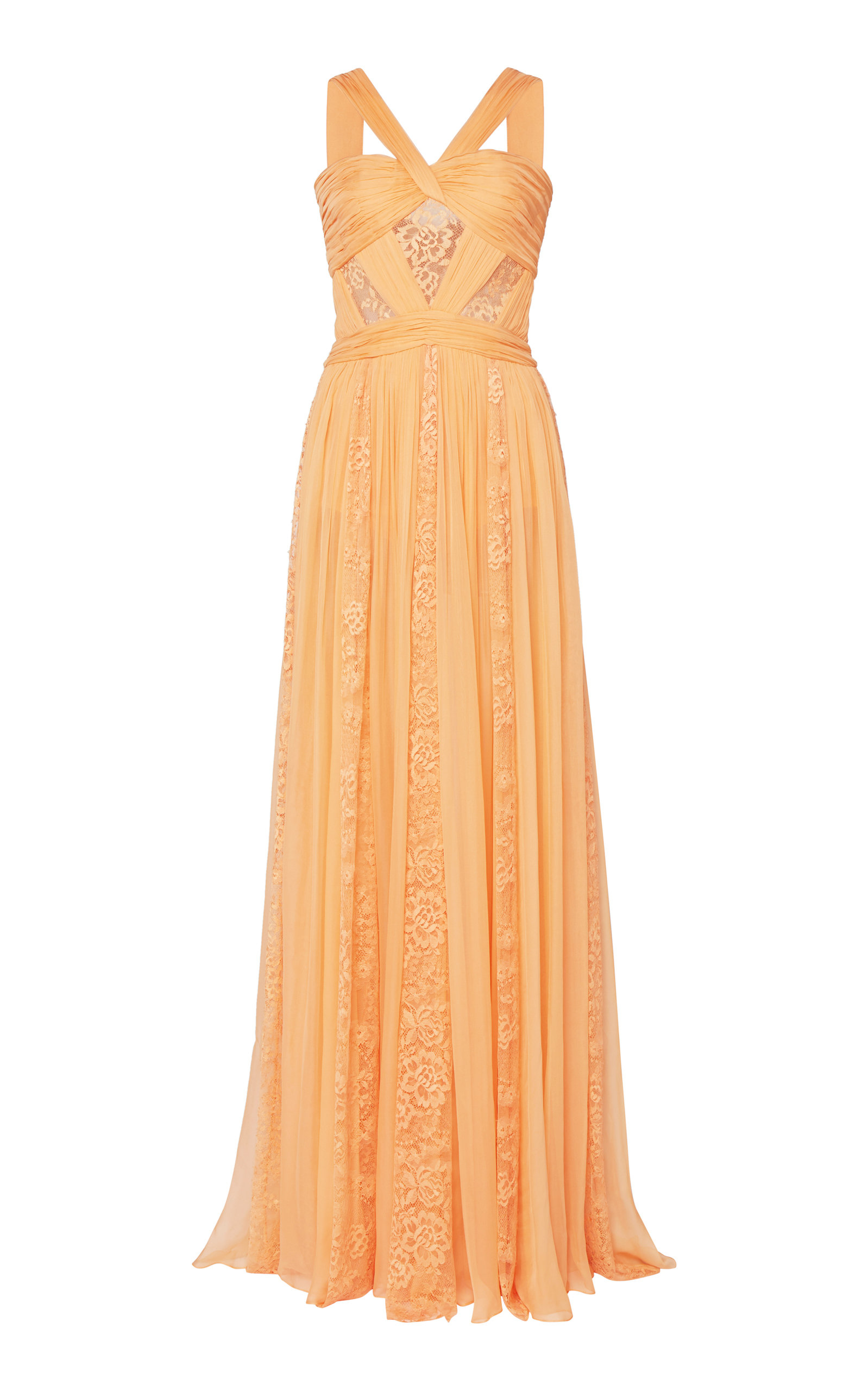 Buy Zuhair Murad Lace-Detailed Organza Dress online, shop Zuhair Murad at the best price