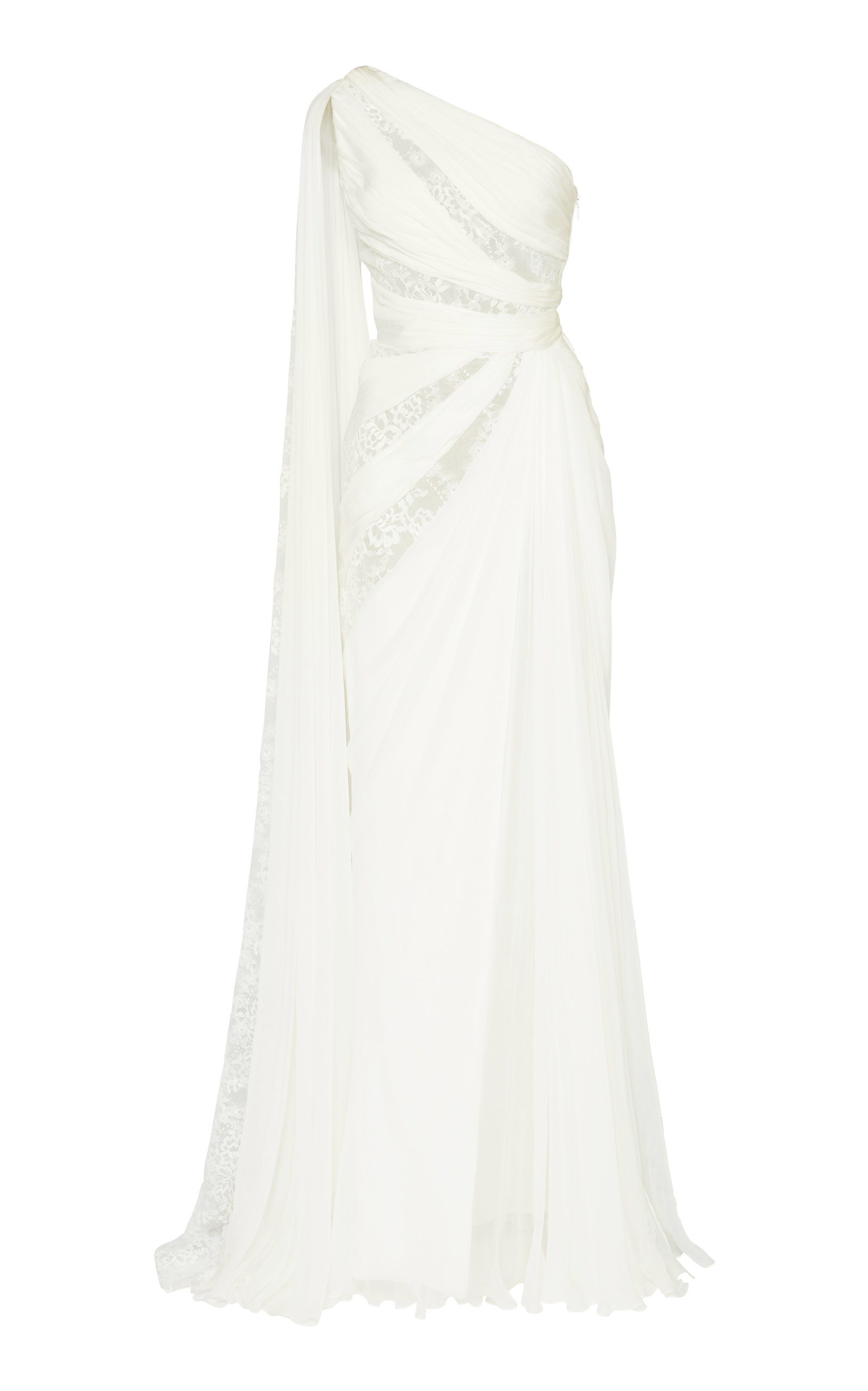 Buy Zuhair Murad One-Shoulder Silk Gown online, shop Zuhair Murad at the best price